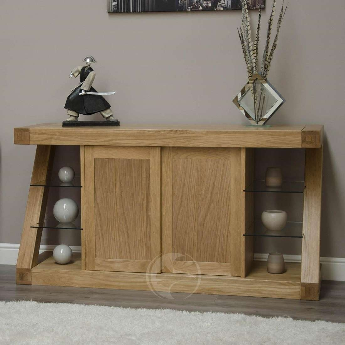 Z Shape Solid Oak Large Sideboard | Oak Furniture Uk With Regard To Large Sideboards (View 20 of 20)