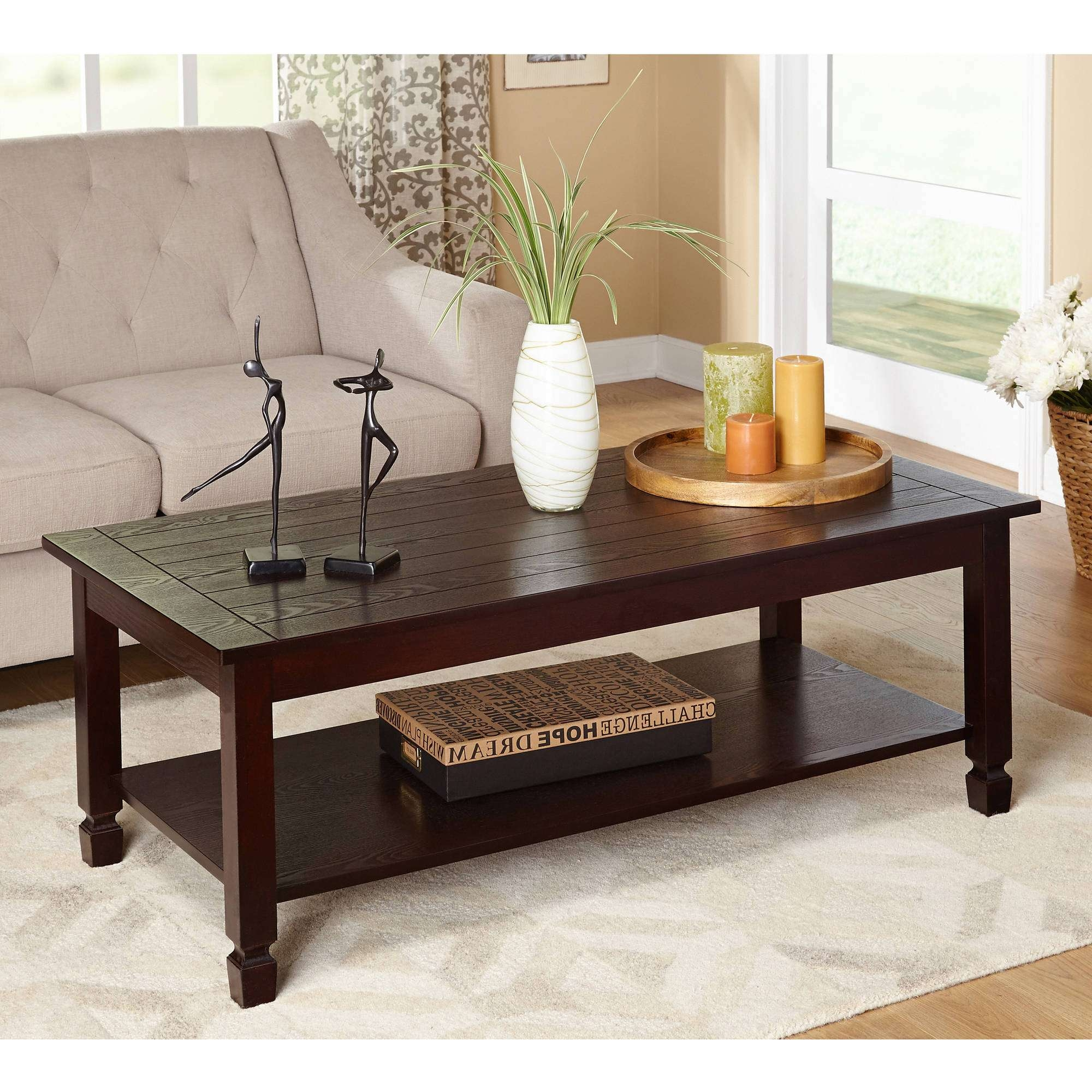Zenith Cocktail Table, Espresso – Walmart Within Fashionable Espresso Coffee Tables (Gallery 6 of 20)