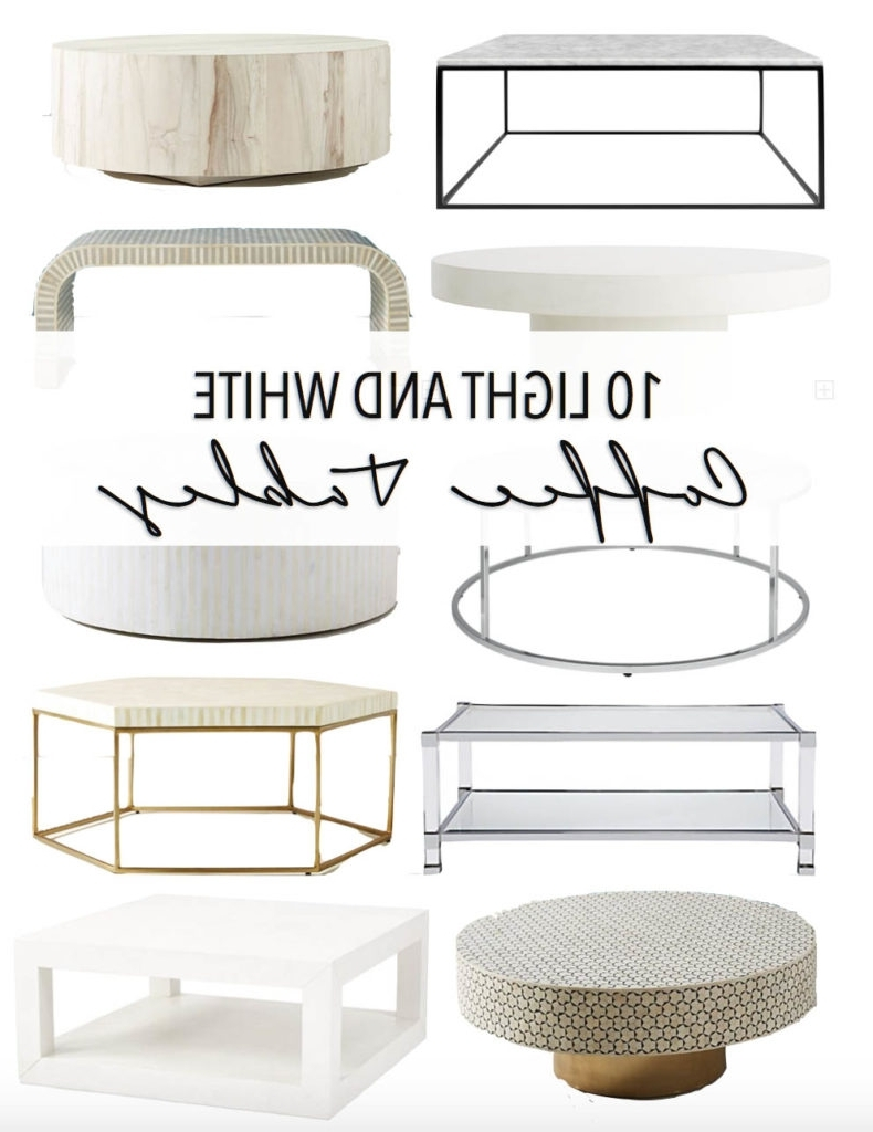 10 Light And White Coffee Tables • Thestylesafari With Regard To Most Recently Released Shroom Large Coffee Tables (Gallery 15 of 20)