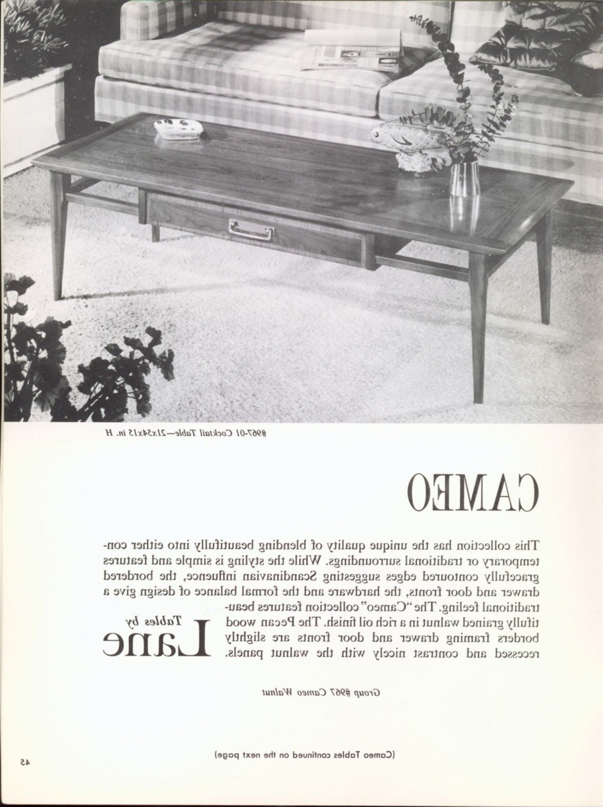 """1962 """"tables That Make Your Room Are Madelane"""" Catalog. Cameo Intended For Preferred Cameo Cocktail Tables (Gallery 7 of 20)"""