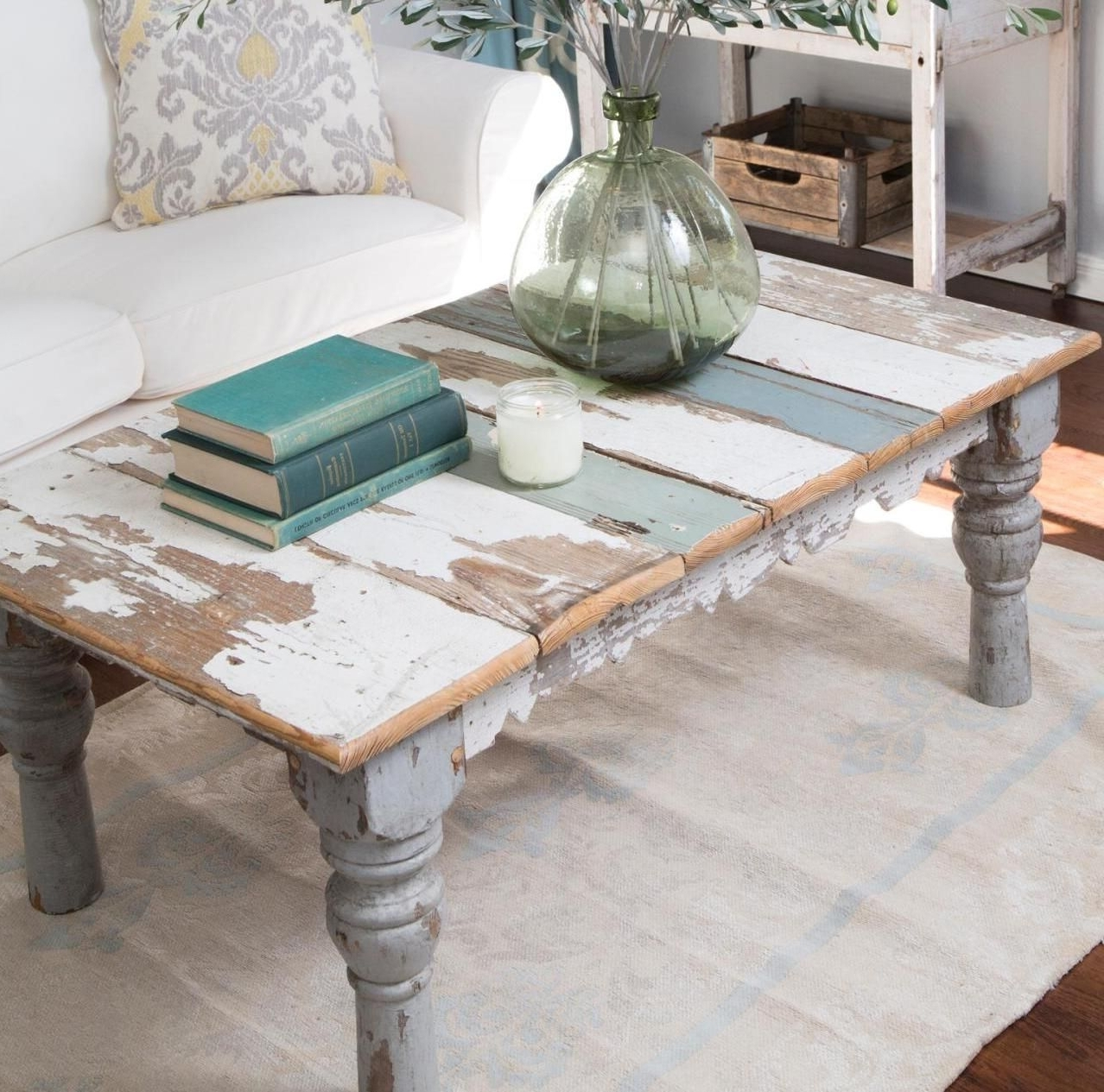 2017 Jelly Bean Coffee Tables Pertaining To Distressed Painted Coffee Table … (View 10 of 20)