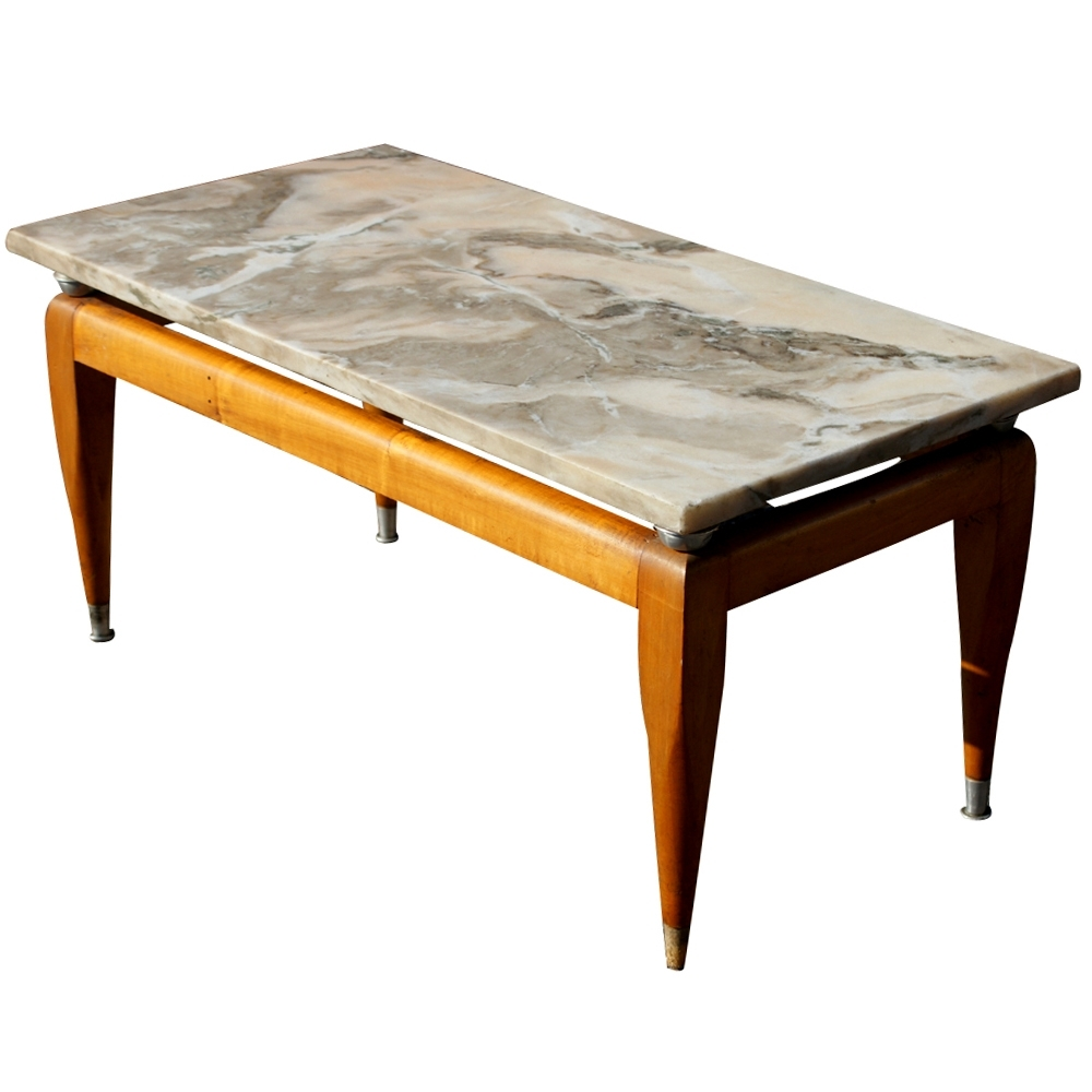 2017 Mid Century Modern Marble Coffee Tables Intended For Midcentury Retro Style Modern Architectural Vintage Furniture From (View 1 of 20)