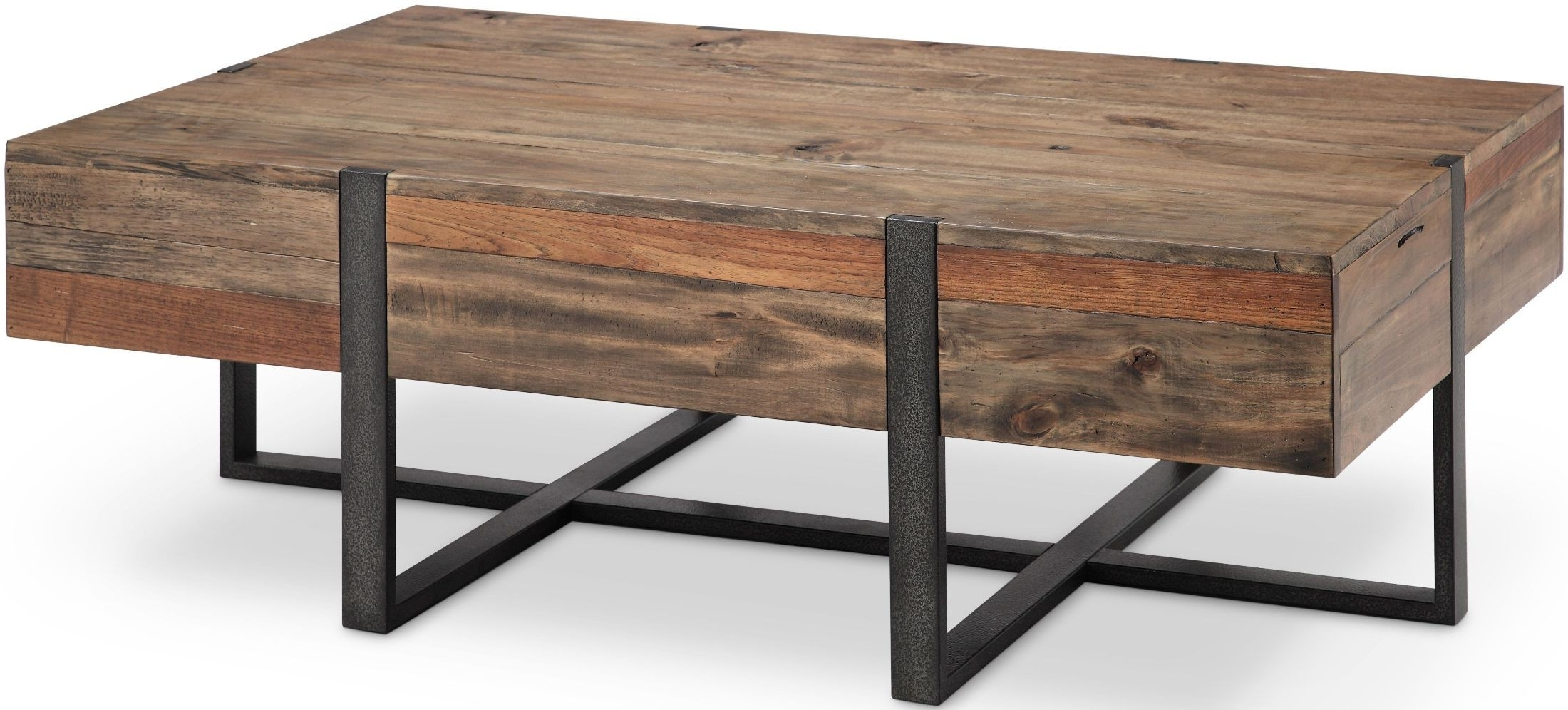2017 Prescott Cocktail Tables Intended For Prescott Rustic Honey Large Rectangular Cocktail Table From (View 1 of 20)