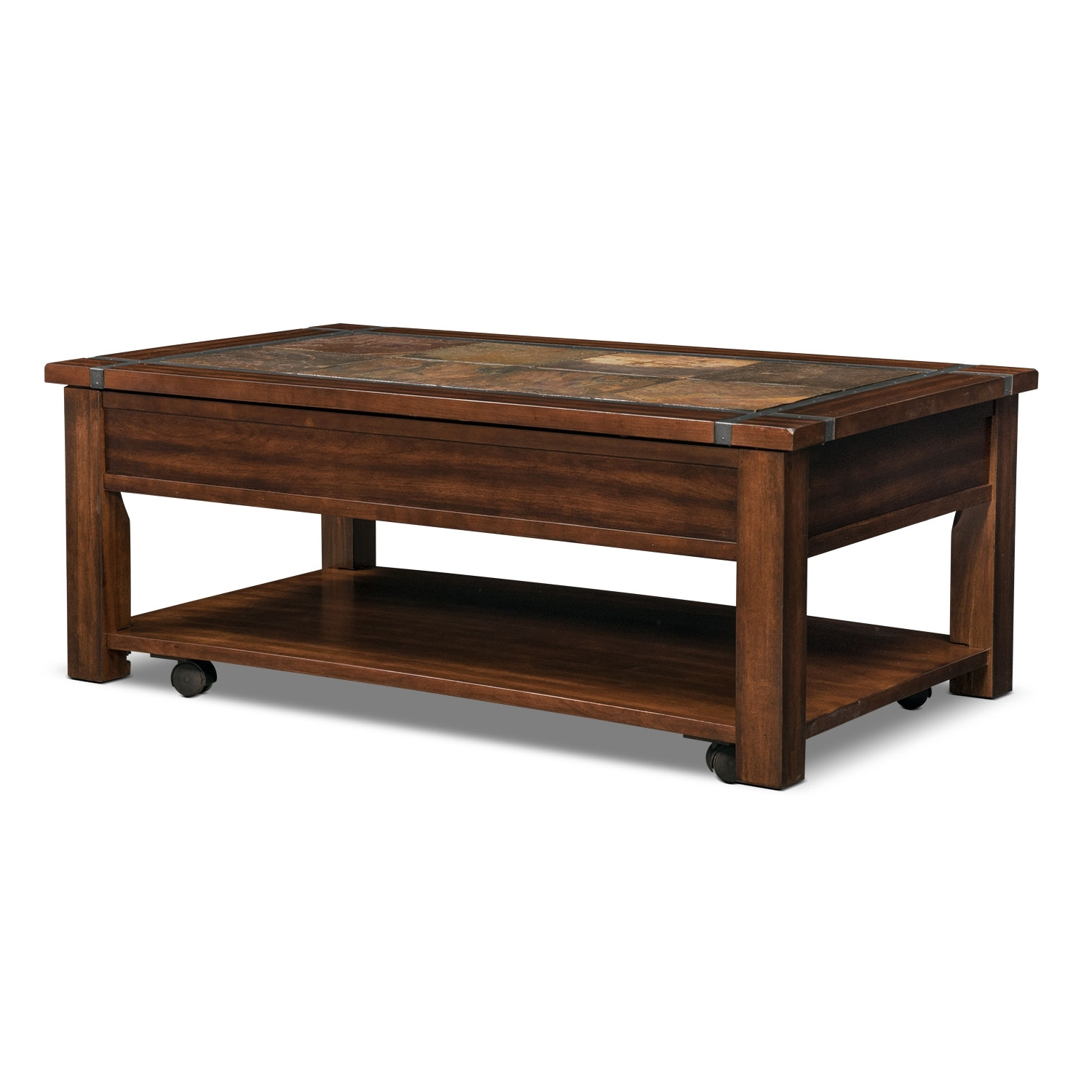 2018 Ashburn Cocktail Tables Throughout Slate Ridge Lift Top Cocktail Table – Cherry (View 5 of 20)
