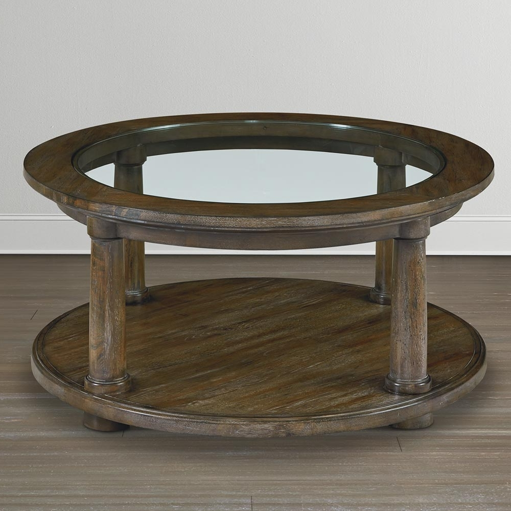 2018 Shelter Cocktail Tables Regarding Casual Round Coffee Table (View 4 of 20)