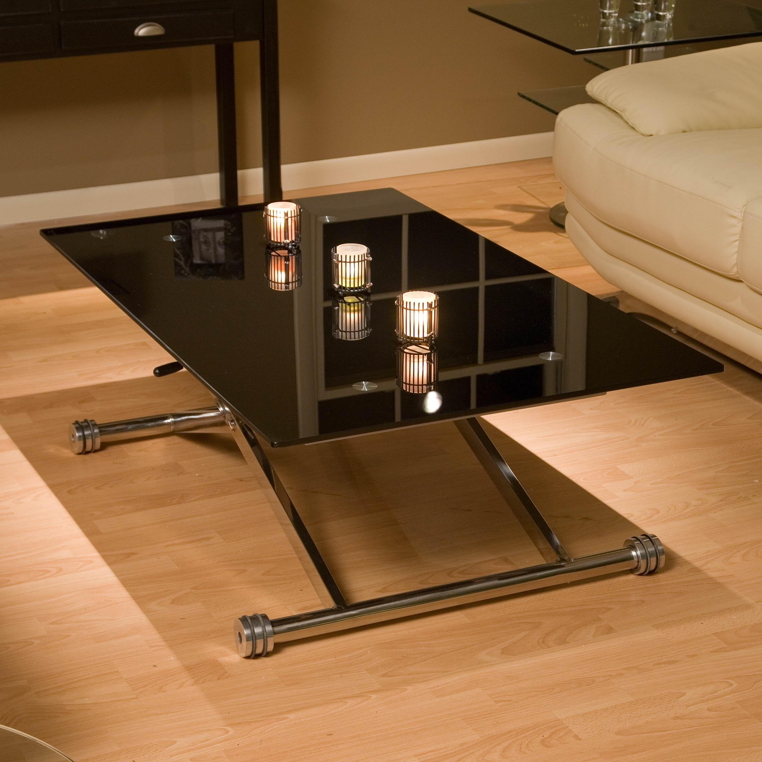 2018 Smart Glass Top Coffee Tables For Adjustable Height Coffee Table Glass Top — Sushi Ichimura Decor (View 3 of 20)
