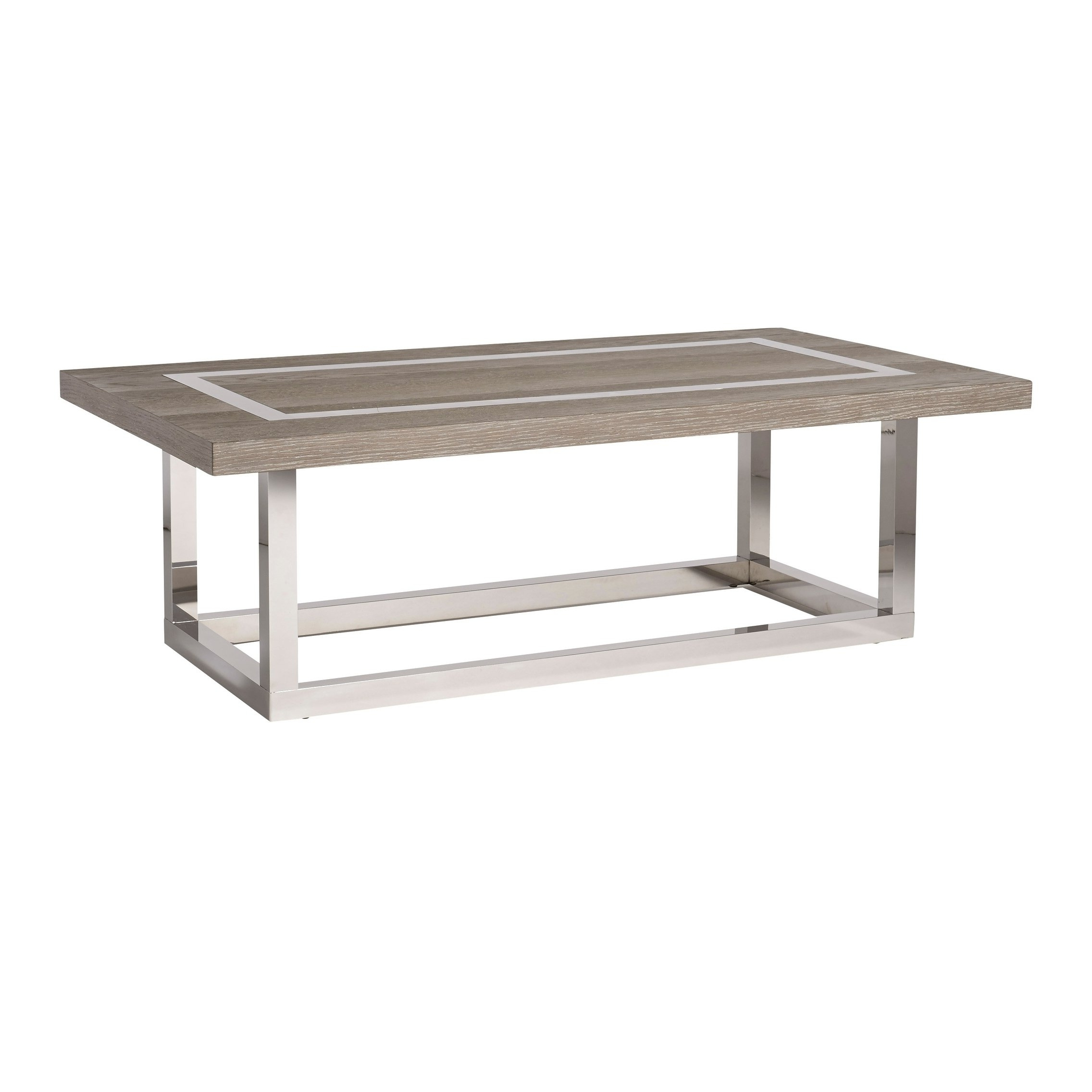 2018 Wyatt Cocktail Tables With Shop Modern Flint And Stainless Steel Rectangle Wyatt Cocktail Table (View 1 of 20)