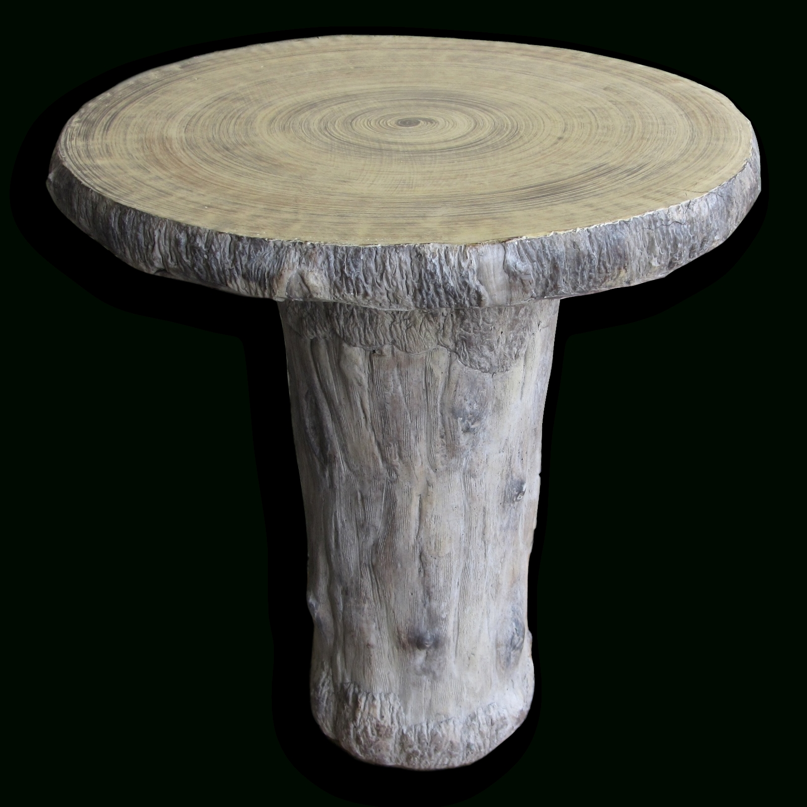 "25"" Round Faux Bois Table (View 3 of 20)"