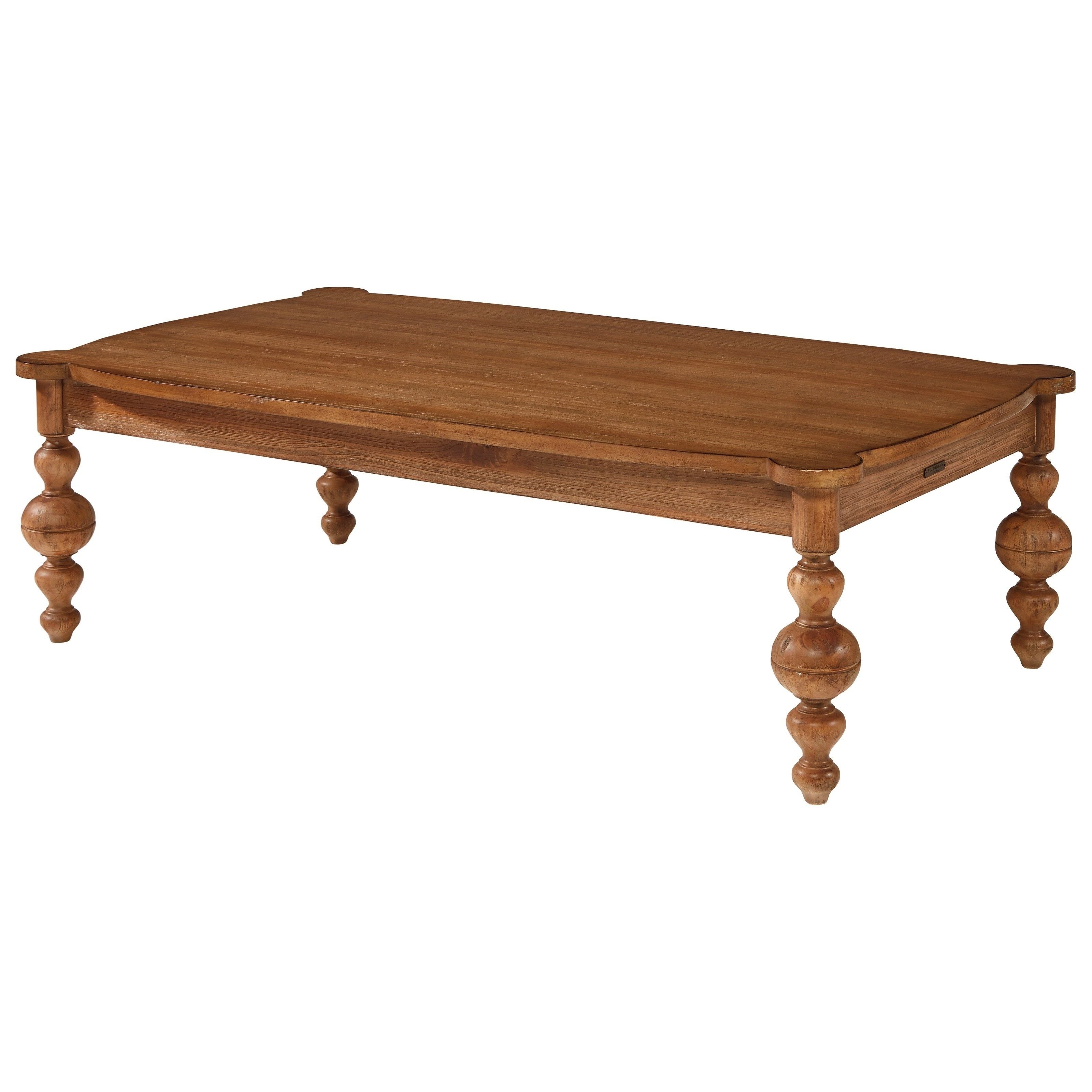 $449 Accent Elements Turned Leg Coffee Tablemagnolia Home For Most Current Magnolia Home Louver Cocktail Tables (View 1 of 20)