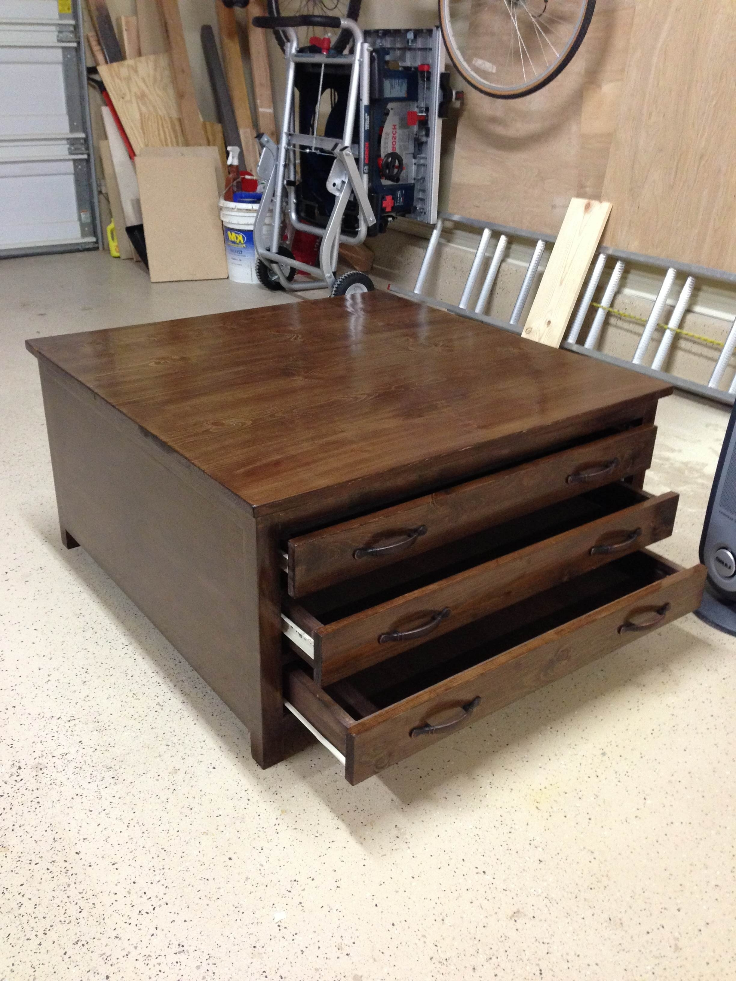 6 Drawer Coffee Table – Diy Projects (Gallery 1 of 20)