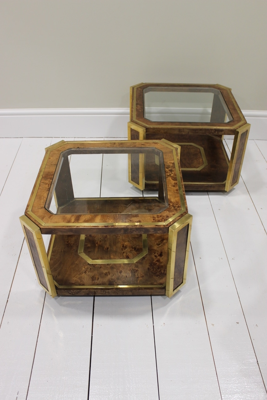 A Pair Of Spanish Burr Walnut Occasional Or Coffee Tables, 1970s With Regard To Most Current Spanish Coffee Tables (View 10 of 20)