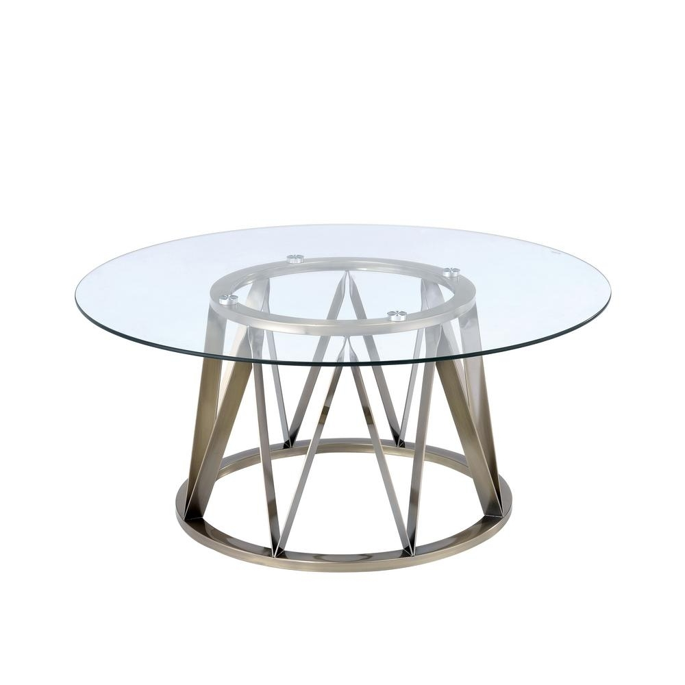 Acme Furniture Perjan Clear Glass And Antique Brass Coffee Table For Newest Antique Brass Coffee Tables (Gallery 7 of 20)