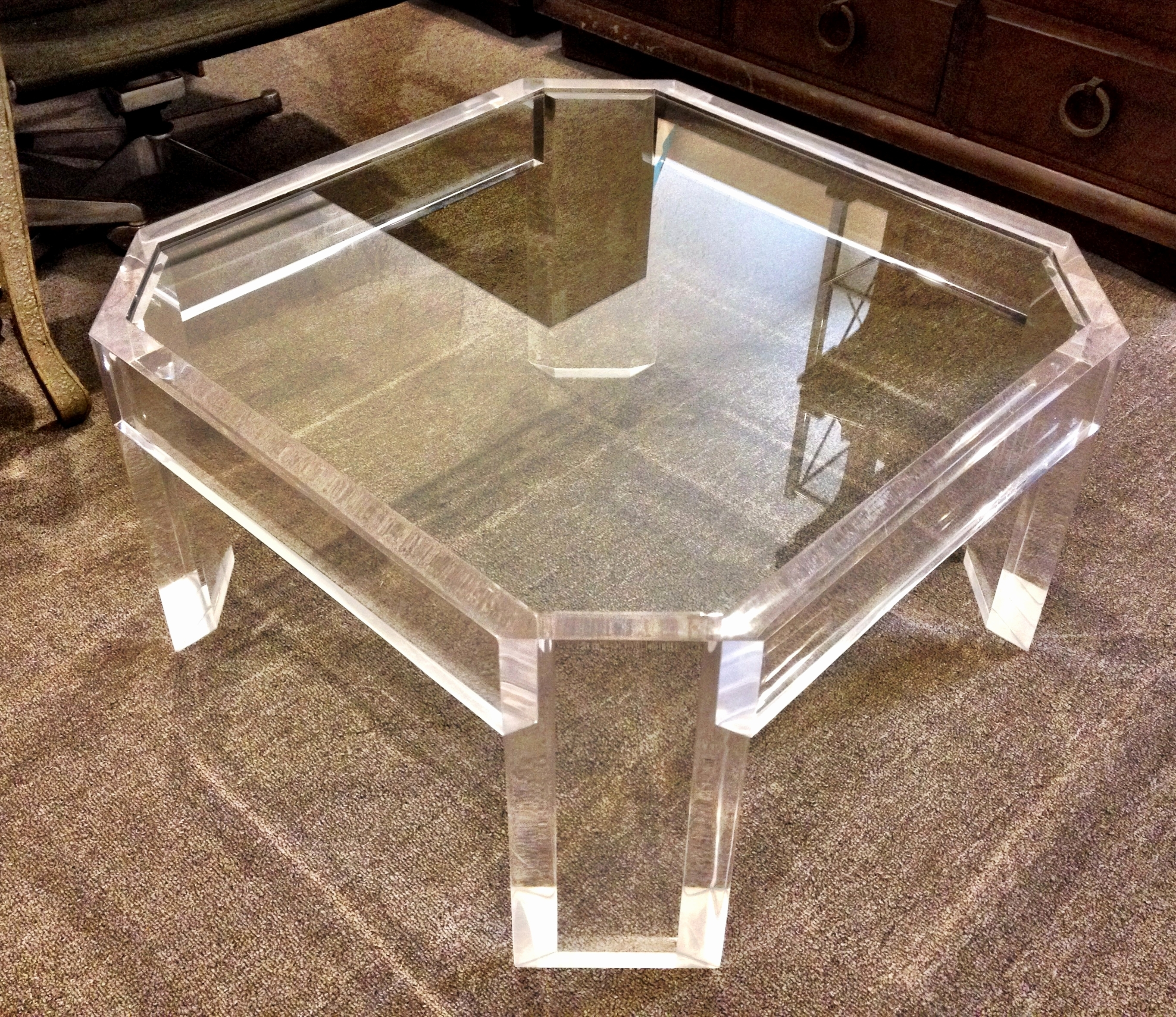 Acrylic And Glass Coffee Table Inspirational White Modern Side Table For Preferred Modern Acrylic Coffee Tables (View 2 of 20)
