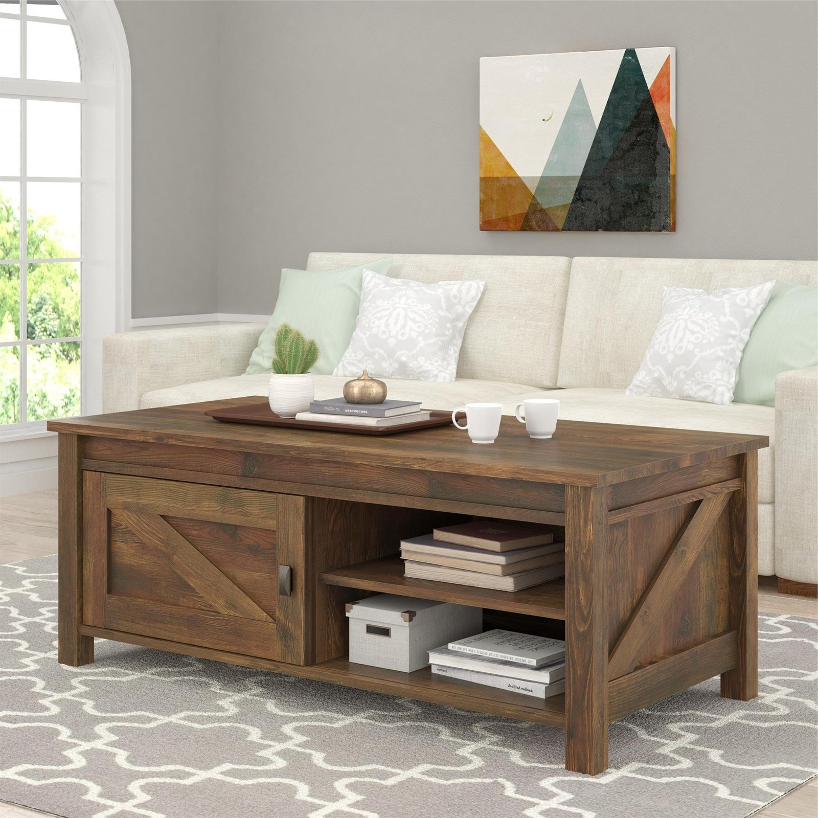 Altra Farmington Coffee Table – Century Barn Pine – Walmart Intended For Fashionable Element Coffee Tables (View 19 of 20)