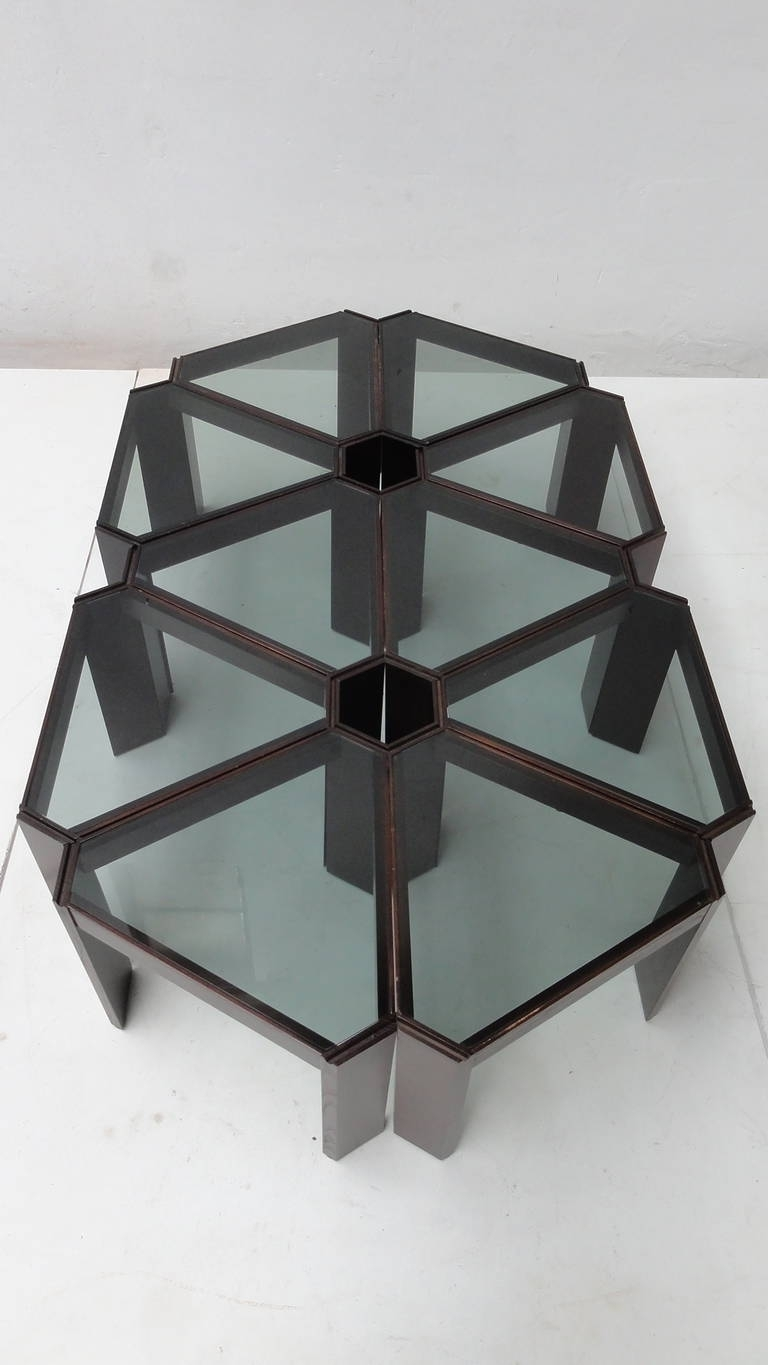 Amazing 1970s Geometric Modular Coffee Table Or Display, Ten Pieces Pertaining To Well Known Modular Coffee Tables (View 2 of 20)