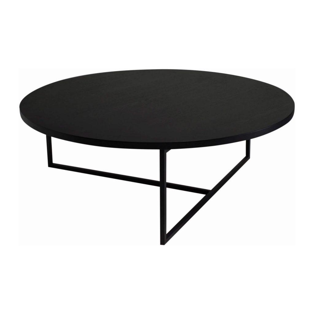 Amazing Black Coffee Table Turner Round Zillo Hutch Matt Ash Inside Latest Darbuka Black Coffee Tables (View 6 of 20)