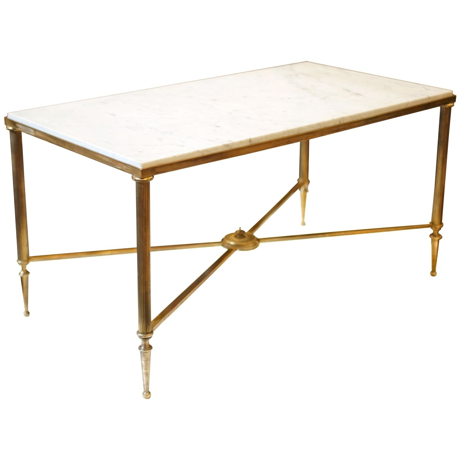 Antique Brass Coffee Table Base (Gallery 17 of 20)