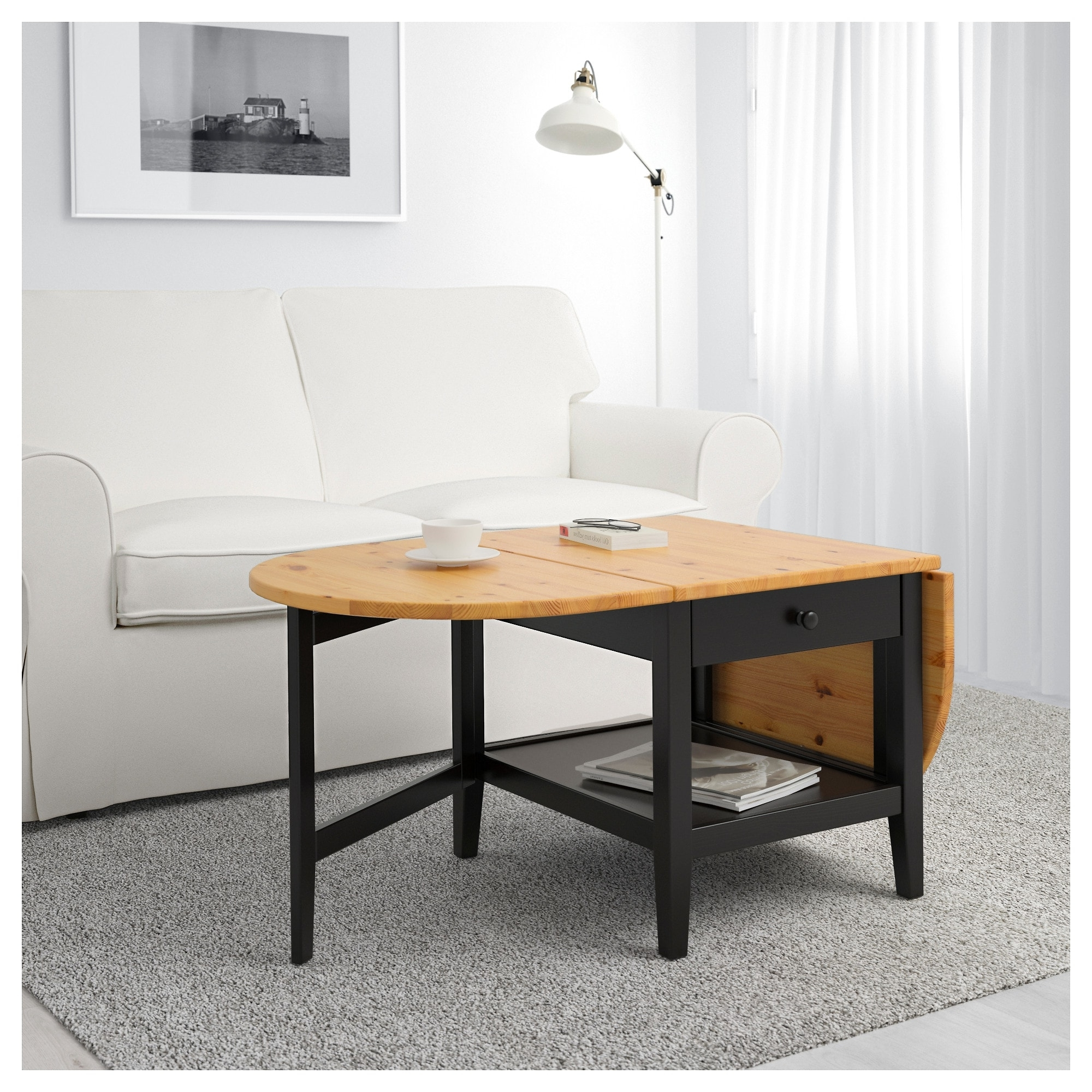Arkelstorp Coffee Table Black 65 X 140 X 52 Cm – Ikea Within Most Recently Released Light Natural Coffee Tables (View 13 of 20)