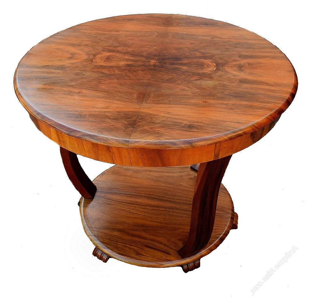 Art Deco Coffee Table In Figured Walnut – Antiques Atlas Inside Popular Antiqued Art Deco Coffee Tables (Gallery 4 of 20)