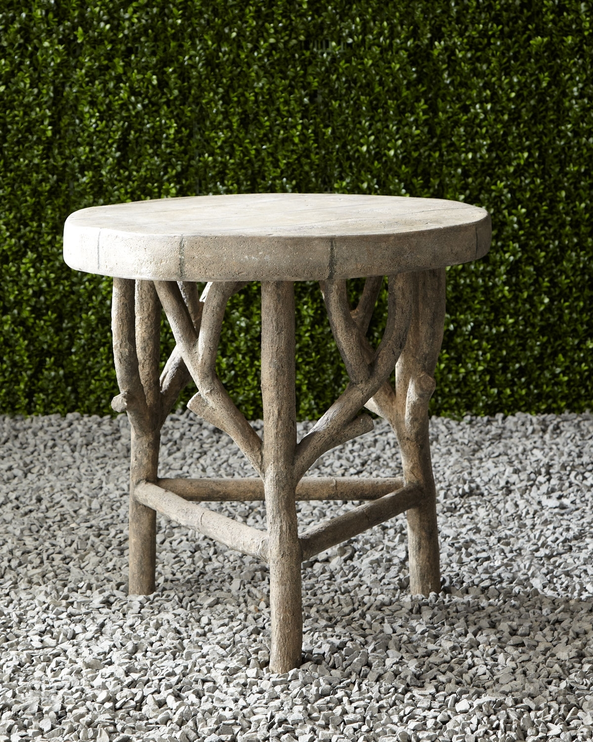 Artemis Faux Bois Side Table (View 9 of 20)