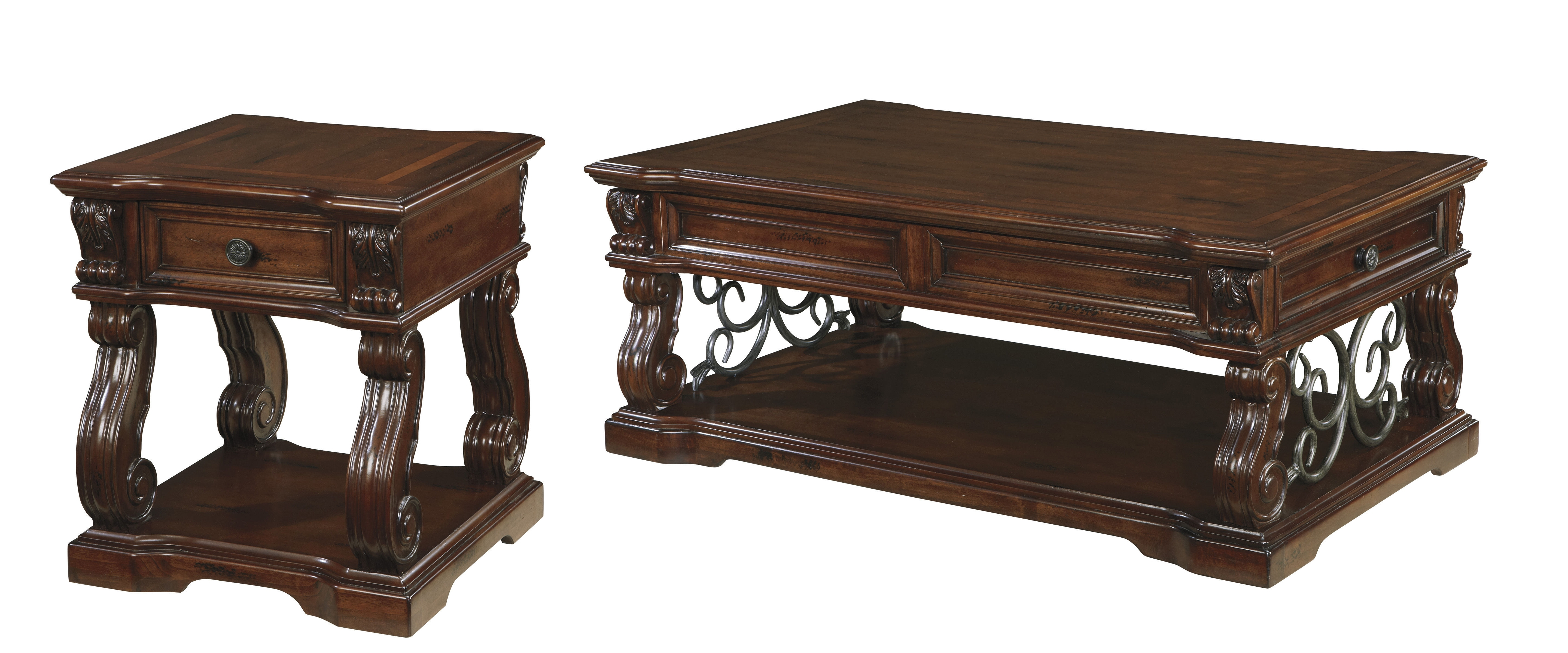 Ashley Furniture Alymere 3Pc Coffee Table Set (Gallery 5 of 20)