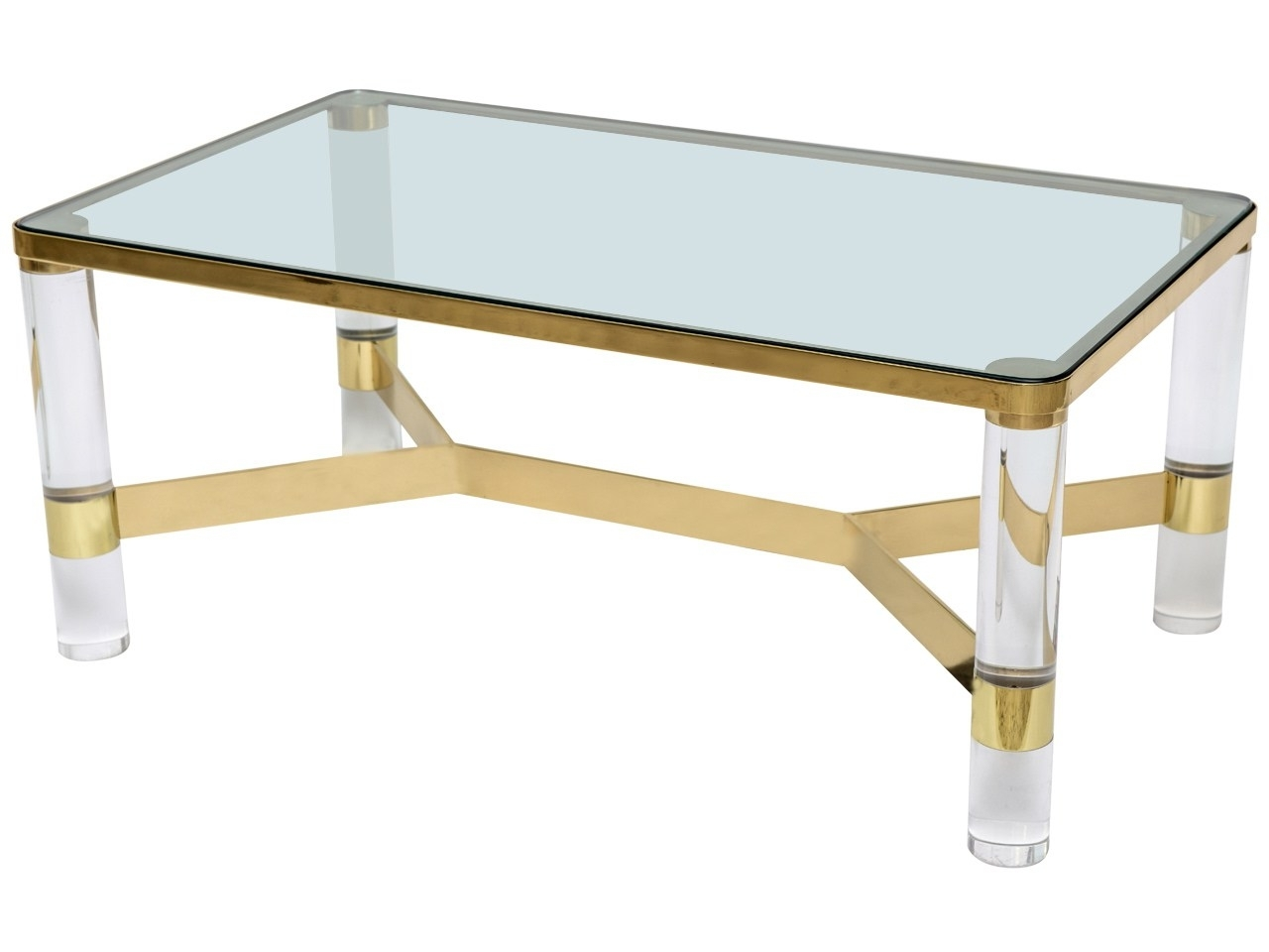 Awesome Plexiglass Coffee Table With A Clear Choicemodern Brass Intended For Latest Acrylic Glass And Brass Coffee Tables (Gallery 1 of 20)