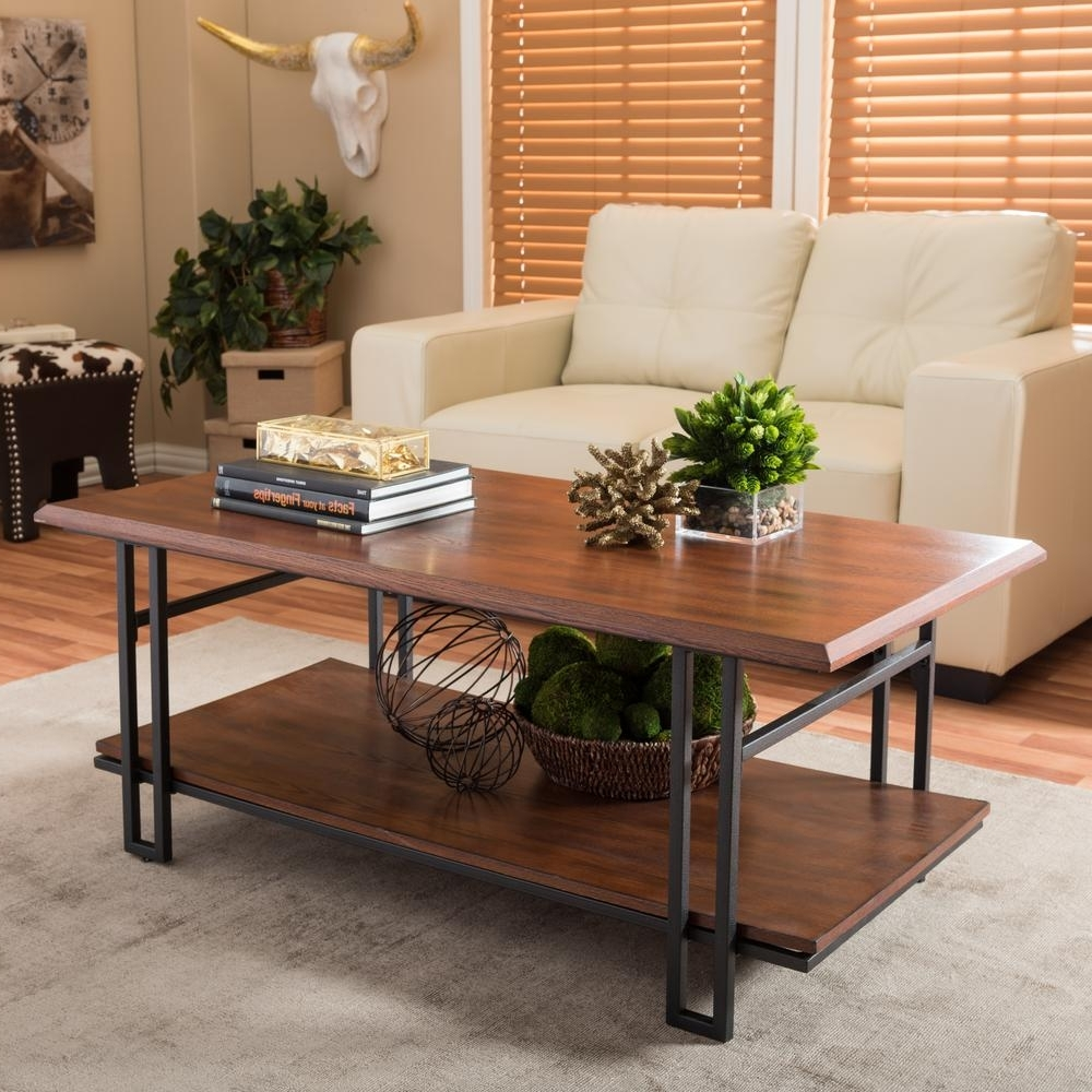 Baxton Studio Adalard Brown And Antique Bronze Coffee Table 28862 For 2018 Vintage Wood Coffee Tables (View 15 of 20)