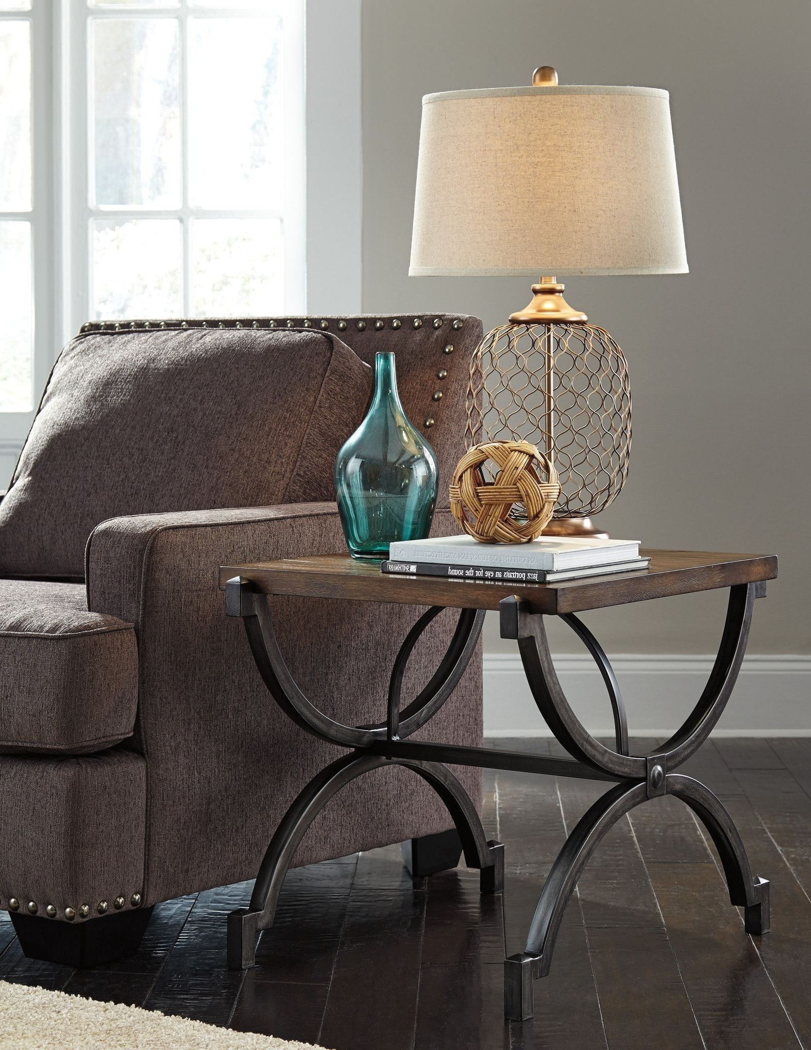 Baybrin Rectangular End Table (View 3 of 20)