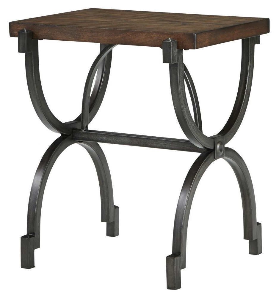 Baybrin Rustic Brown End Table (View 4 of 20)