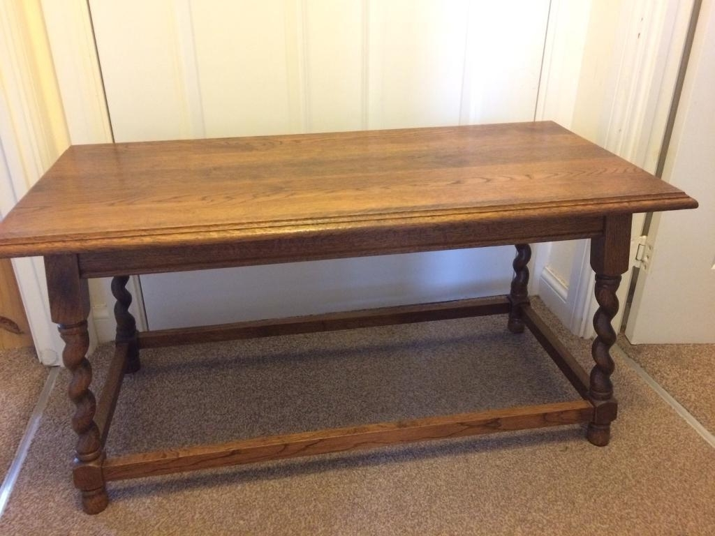 Best And Newest Barley Twist Coffee Tables With Solid Oak Antique Barley Twist Coffee Side Table (View 5 of 20)