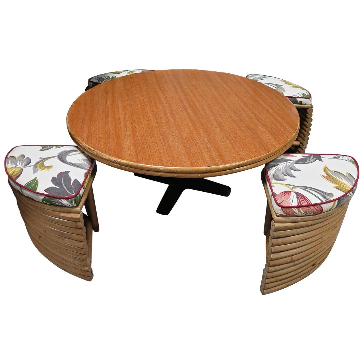 Best And Newest Disappearing Coffee Tables Throughout Casual 1950 Ritts And Company Table With Disappearing Stools At 1Stdibs (View 4 of 20)