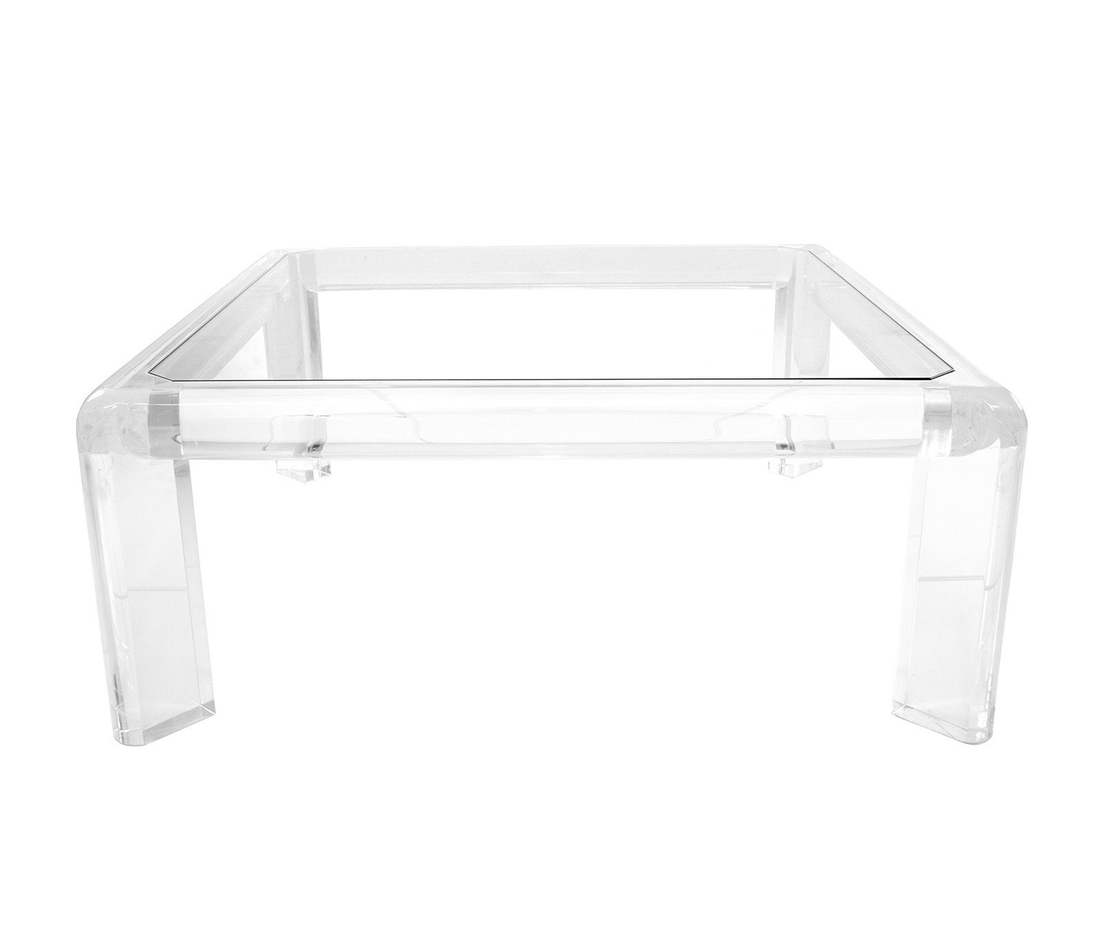 Best And Newest Modern Acrylic Coffee Tables Regarding Acrylic Coffee Tables Square Table – Tadalafilcanada (View 5 of 20)