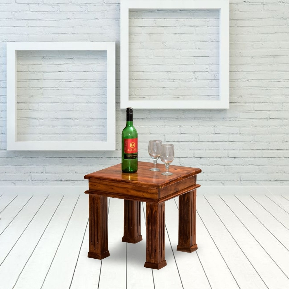Best And Newest Naveen Coffee Tables Throughout Kriska Solid Wood Peg Side Table (View 10 of 20)
