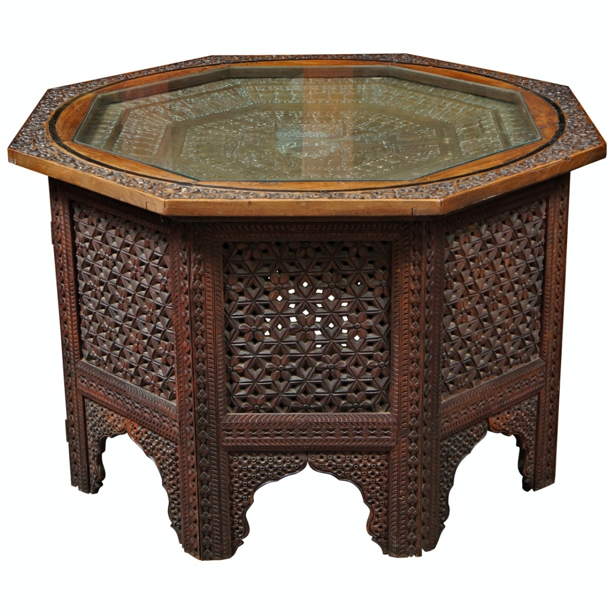 Best And Newest Round Carved Wood Coffee Tables Pertaining To Collection In Carved Wood Coffee Table With Wooden Coffee Tables (View 2 of 20)