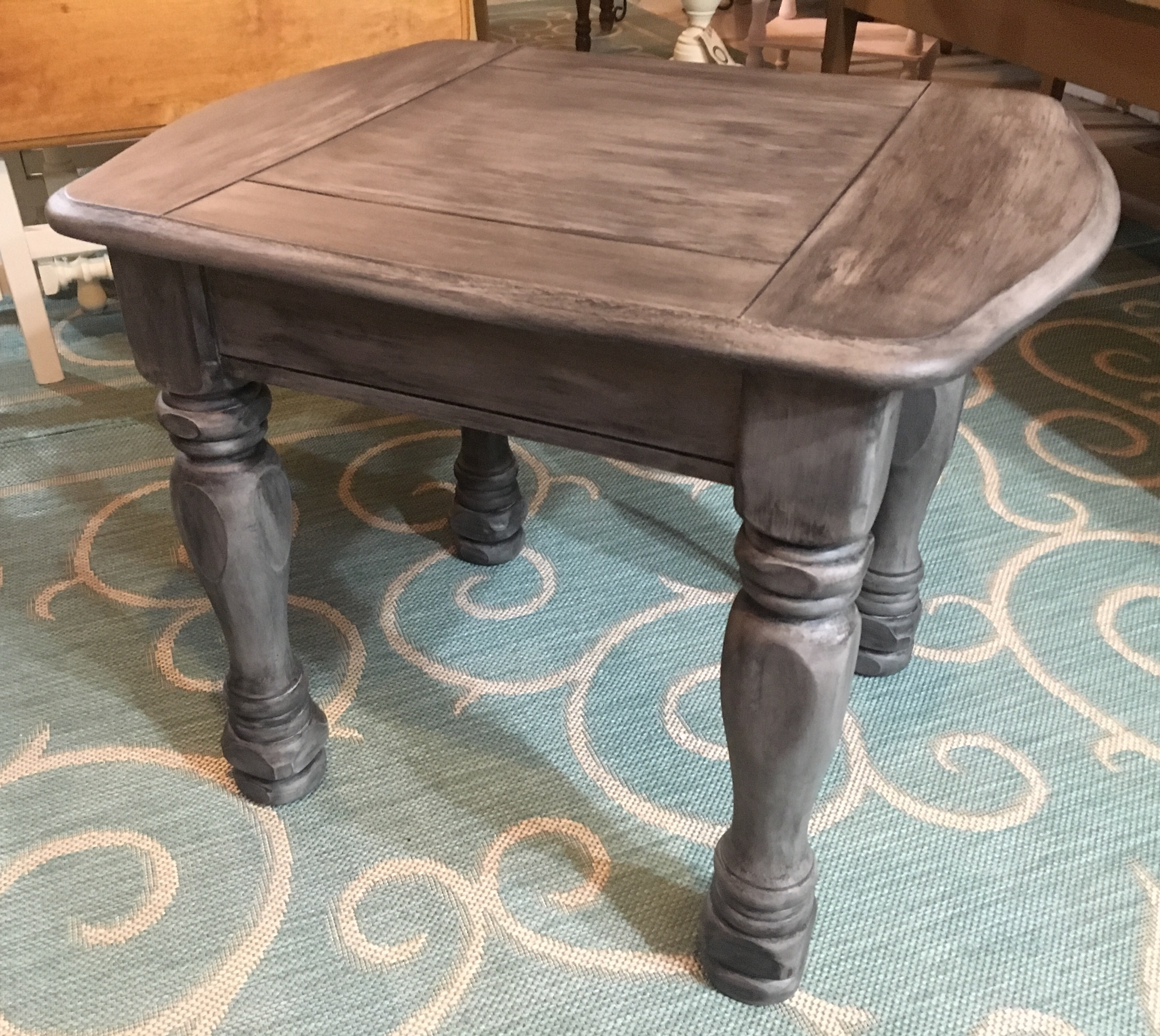 Best And Newest Round White Wash Brass Painted Coffee Tables Within Quality Antique And Vintage Furniture In New Hampshire (View 16 of 20)