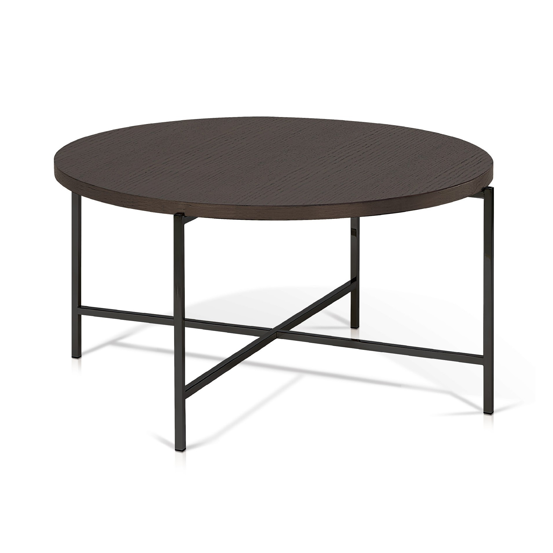 Best And Newest Smoked Oak Coffee Tables Regarding Korson Sef2531 Bergen – Smoked Oak Top Round Coffee Table (View 4 of 20)