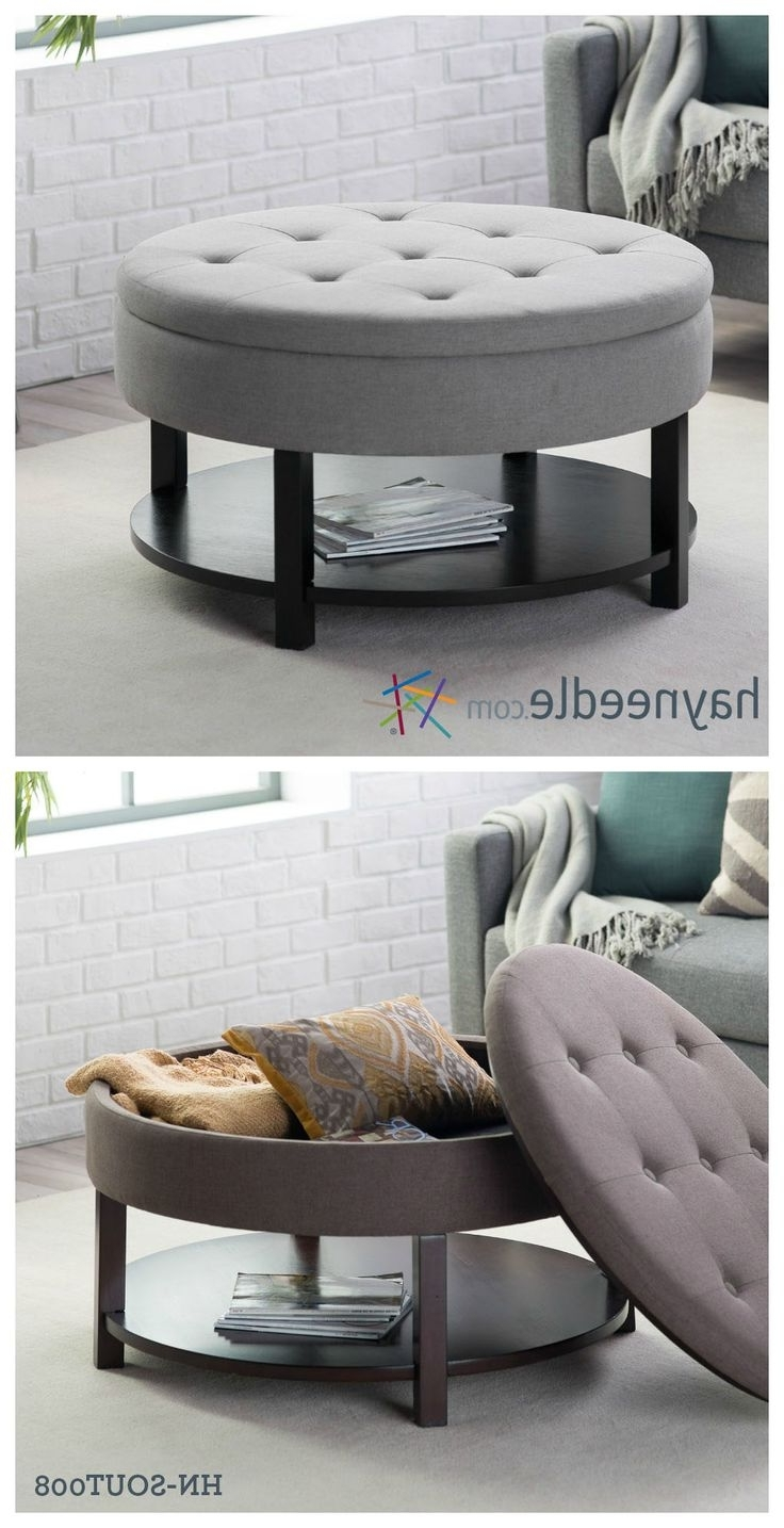 Best Round Storage Ottoman Coffee Table With 1000 Ideas About Pertaining To Latest Round Button Tufted Coffee Tables (View 2 of 20)