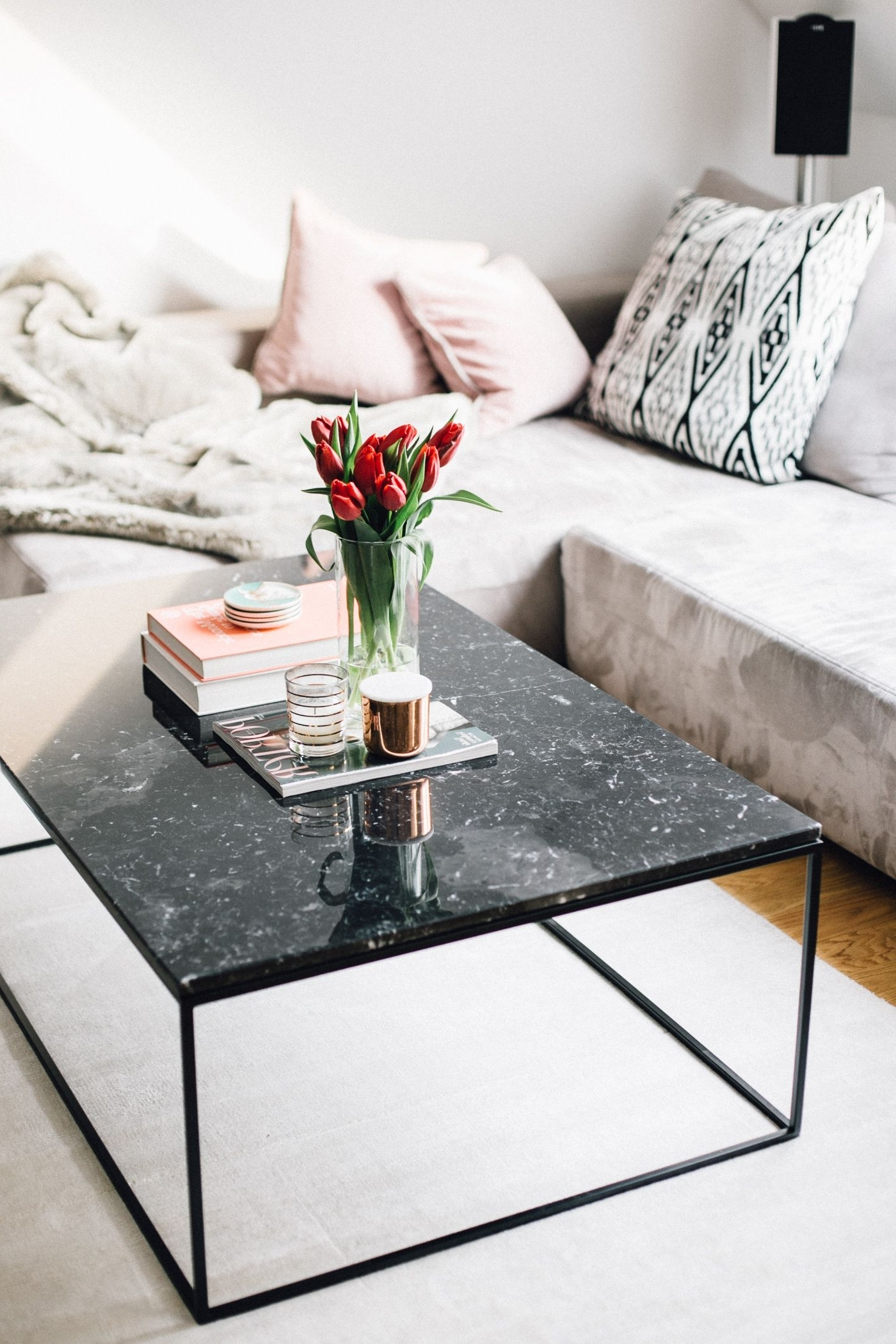 Black Marble Coffee Table Interior Inspiration (View 12 of 20)
