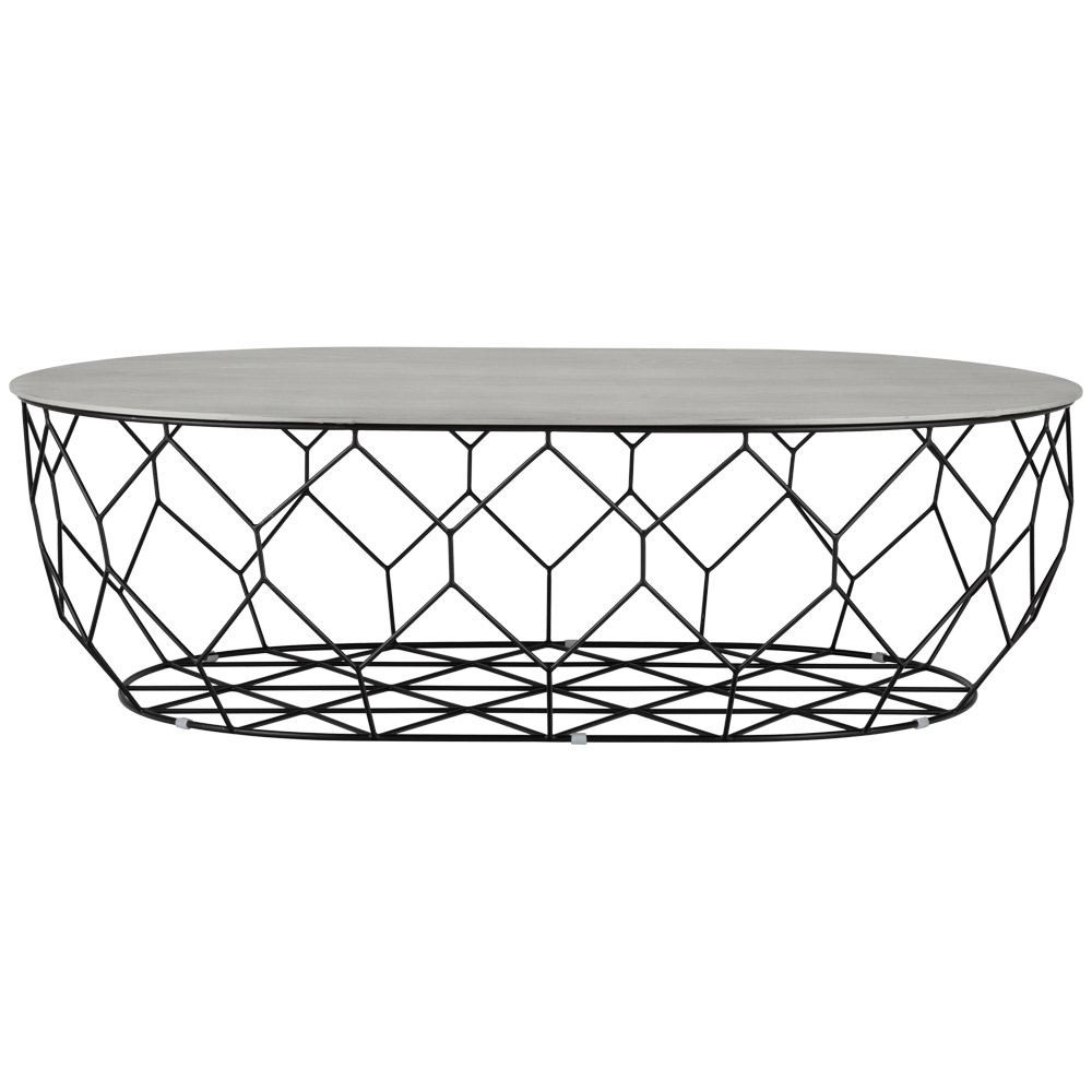 Bolia Comb Ellipse Coffee Table Black Frame (View 6 of 20)