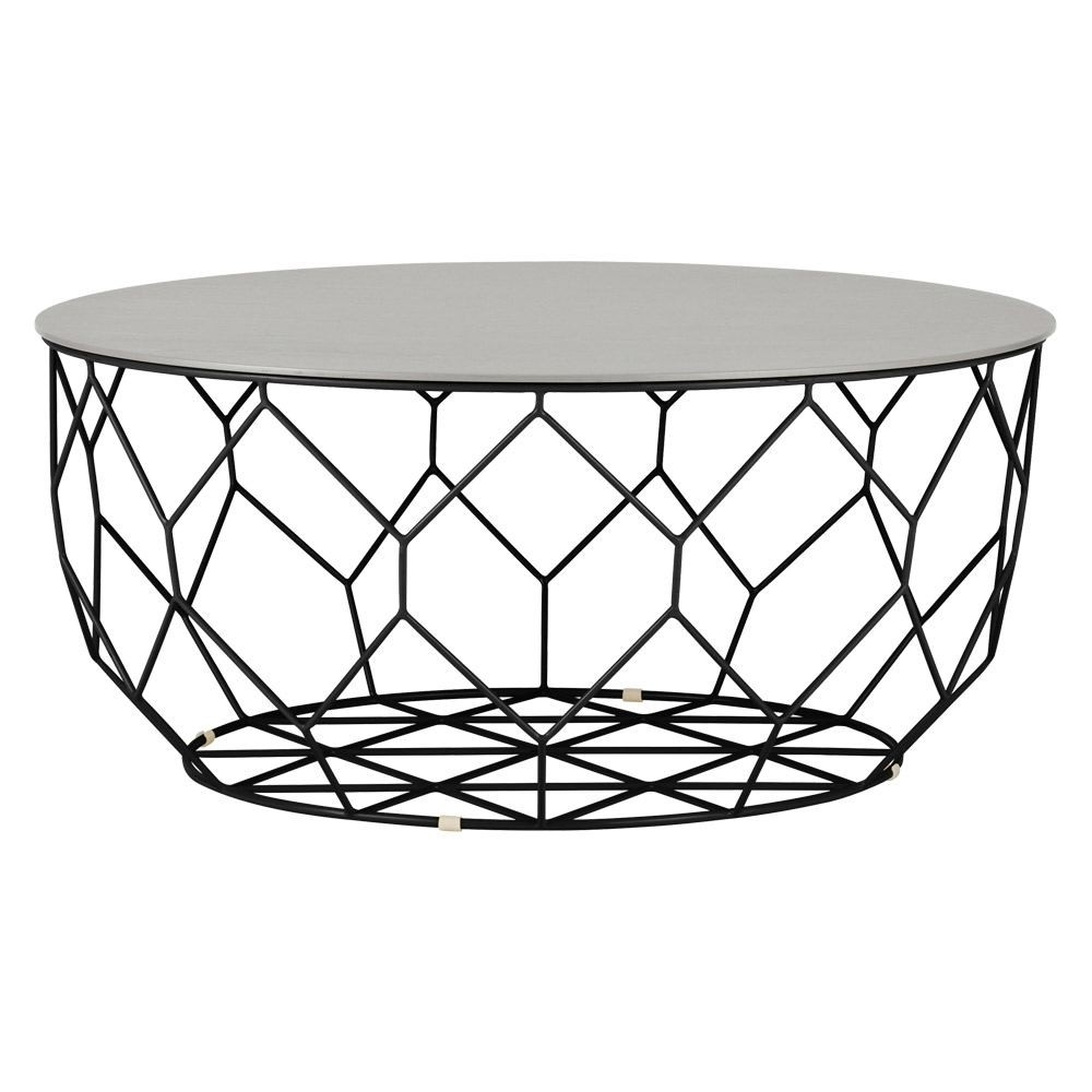 Bolia Comb Round Coffee Table Black Frame Large (View 5 of 20)