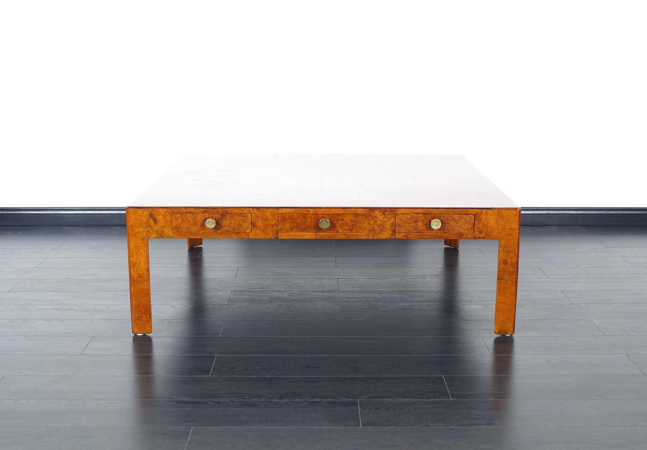 Brass And Wood Coffee Table Rectangular Contemporary Two Tier Glass Throughout Recent Joni Brass And Wood Coffee Tables (View 4 of 20)