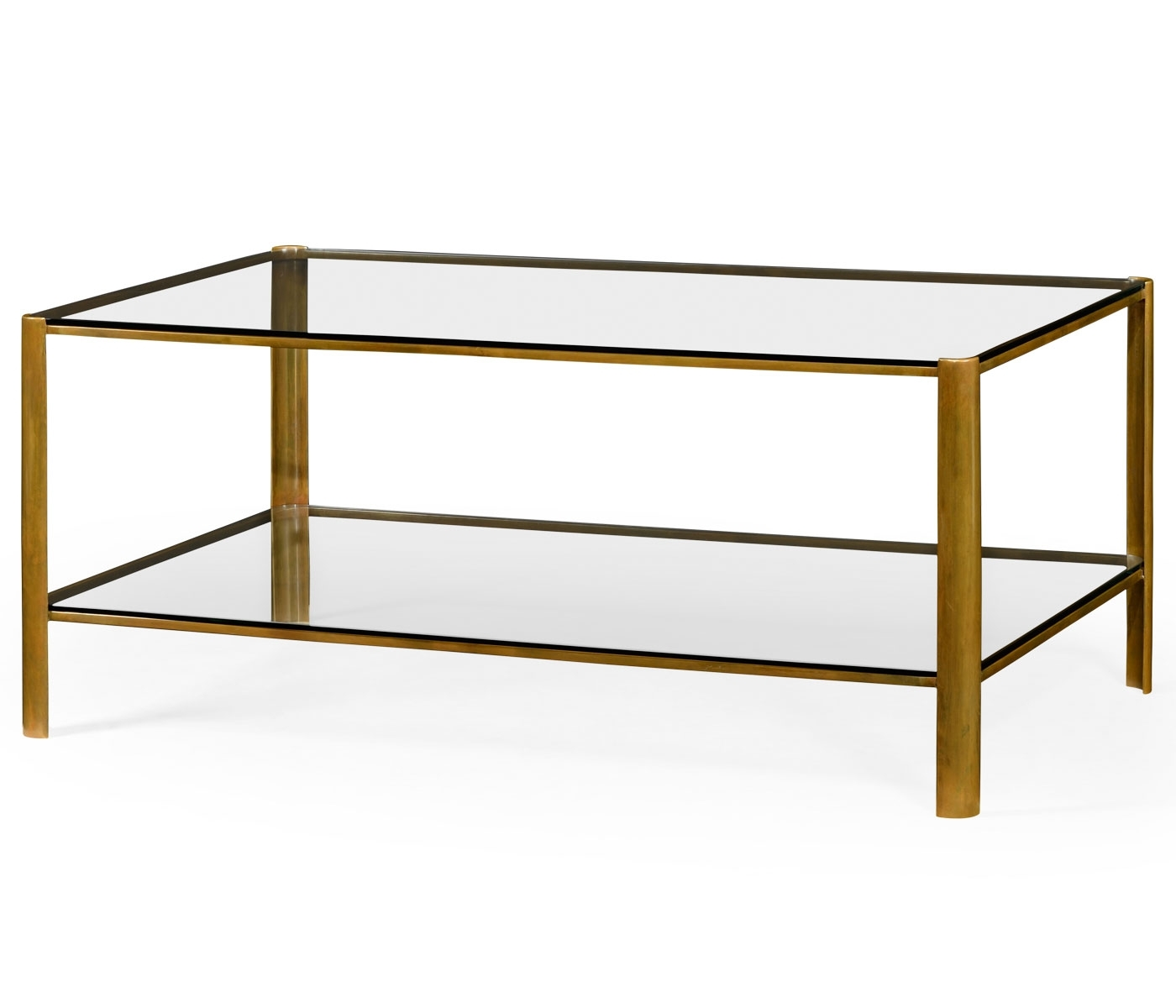 Brass & Glass Coffee Table Regarding Best And Newest Rectangular Brass Finish And Glass Coffee Tables (View 2 of 20)