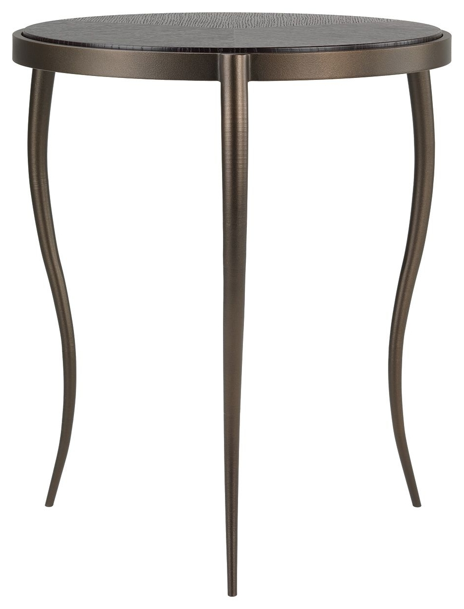 Brinkley Side Table In Textured Bronze With A Dark Smoked Oak Top Throughout Most Current Smoked Oak Side Tables (View 2 of 20)