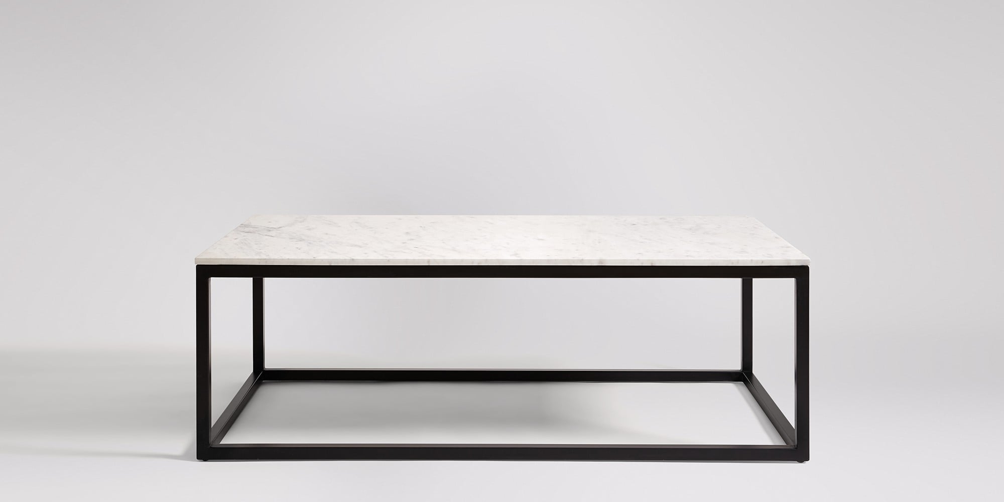 Cassius Marble & Matt Black Coffee Table (View 12 of 20)