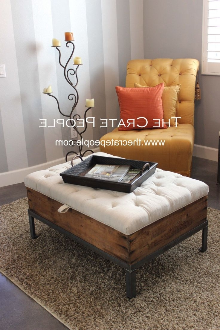 Coffee Table: Marvelous Ottoman Coffee Table Storage Avalon Coffee Throughout Most Up To Date Button Tufted Coffee Tables (View 14 of 20)