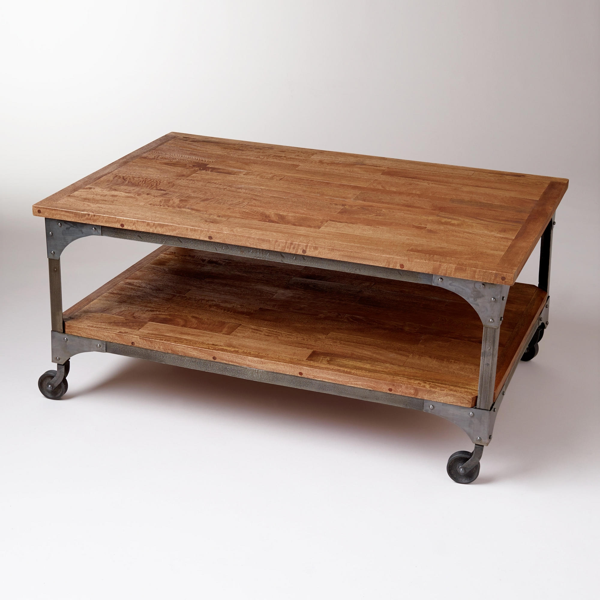 Coffee Table: Remarkable Coffee Tables With Wheels Coffee Table For Most Popular Natural Wheel Coffee Tables (View 8 of 20)