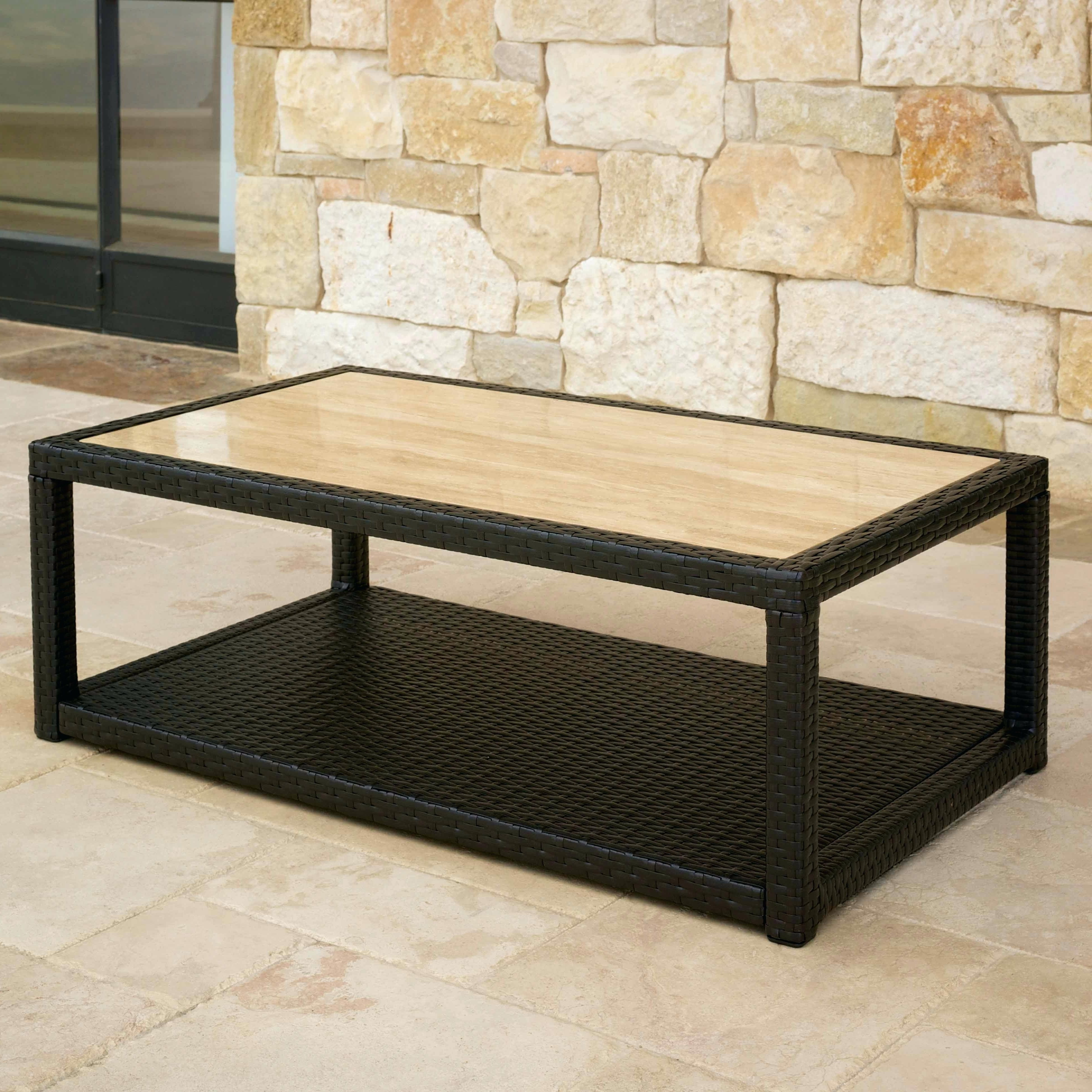 Coffee Table With Stone Top Comfort Stone Top Coffee Table Heather With Regard To Newest Stone Top Coffee Tables (View 4 of 20)