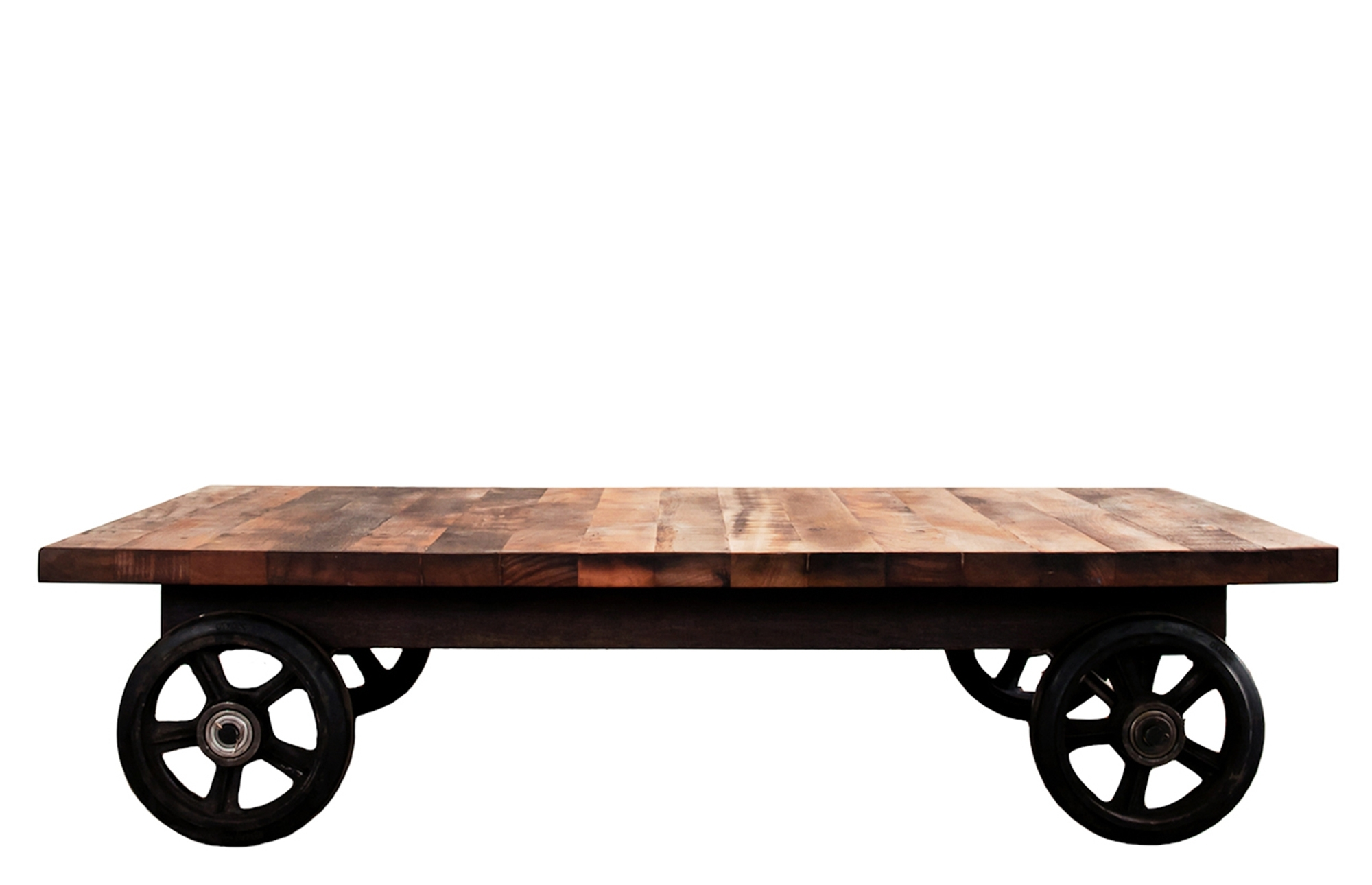 Coffee Table With Wheels – Lounge Furniture – Out & Out Original Intended For Latest Iron Wood Coffee Tables With Wheels (View 7 of 20)