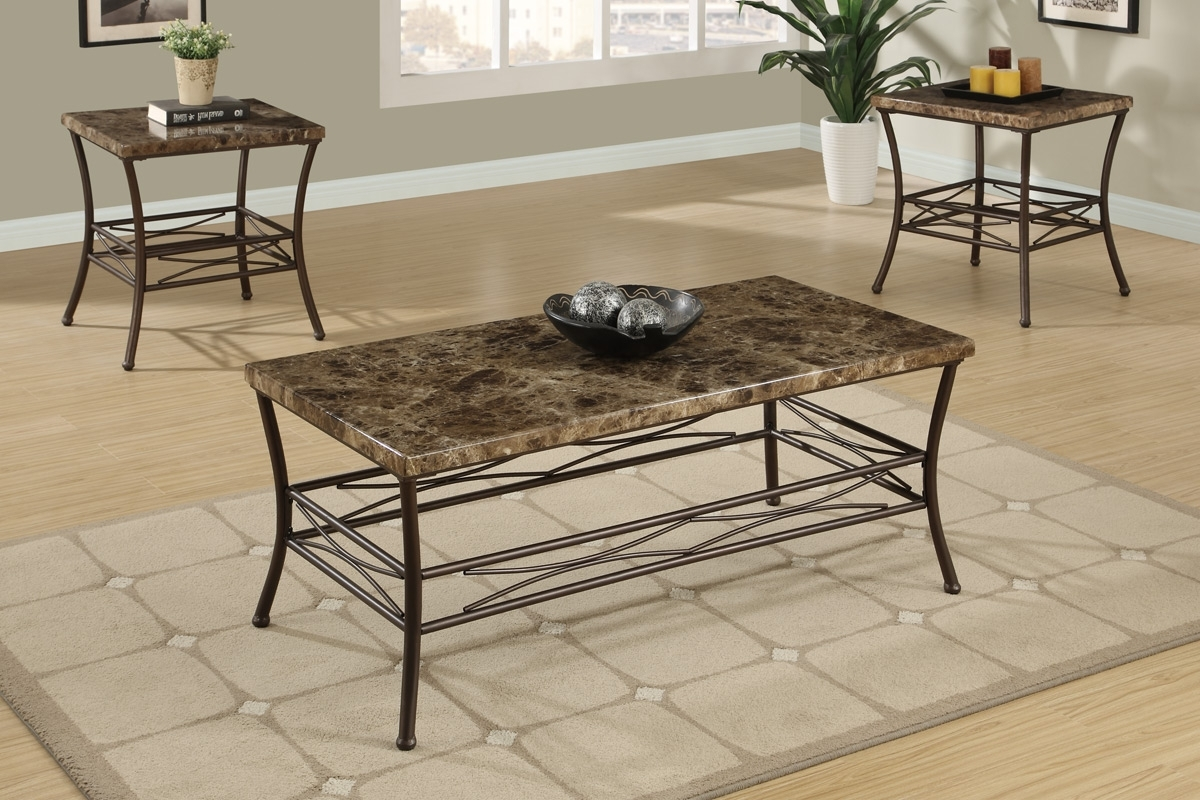 Coffee Tables – Faux Marble Coffee Table Set F  (View 7 of 20)