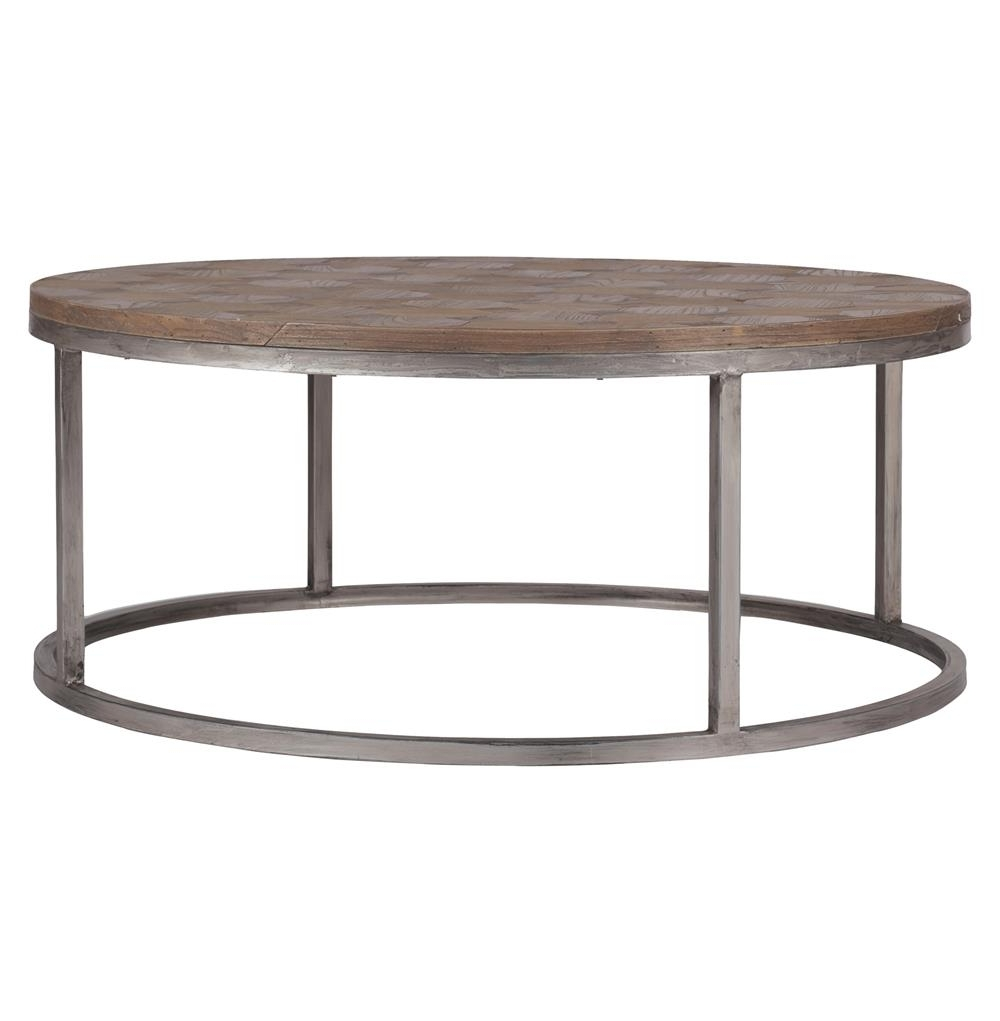 Colby Modern Industrial Loft Reclaimed Wood Coffee Table (View 3 of 20)